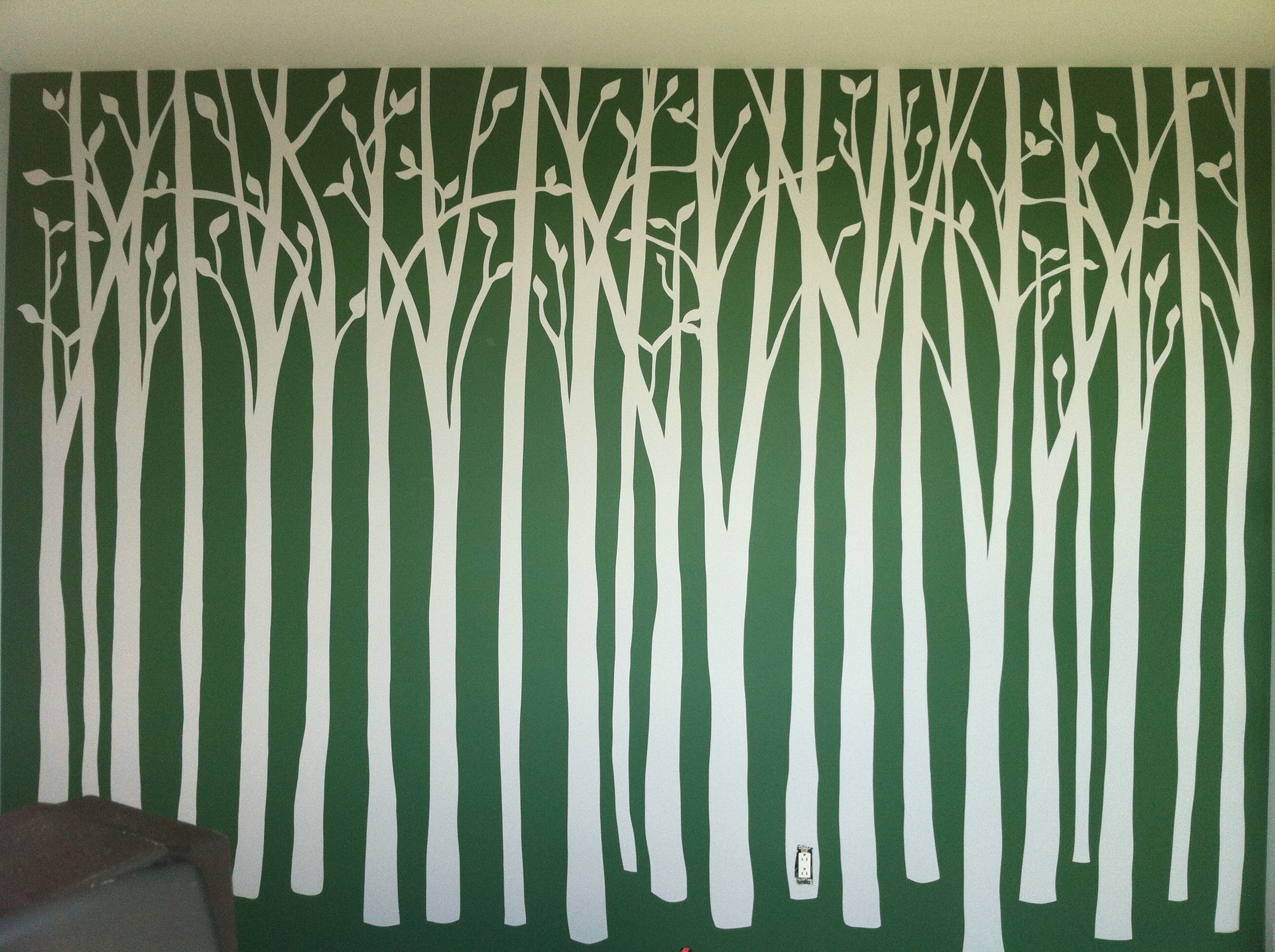 A wall of trees...
