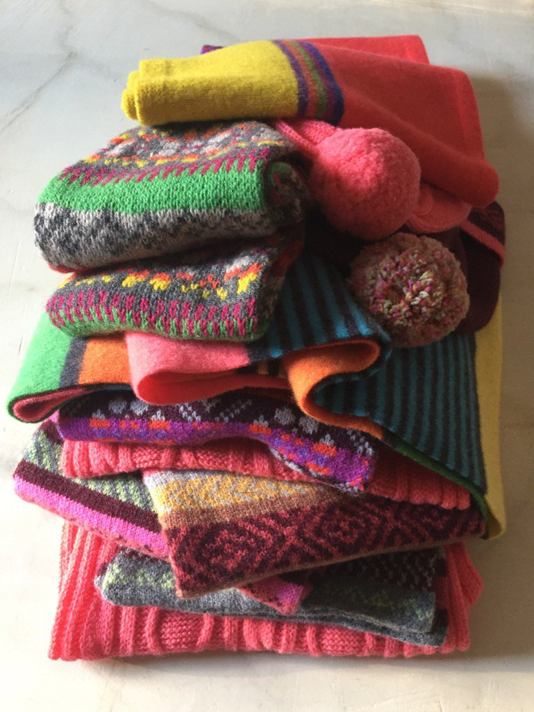 Knitted Scarves Scotland's Trade Fair