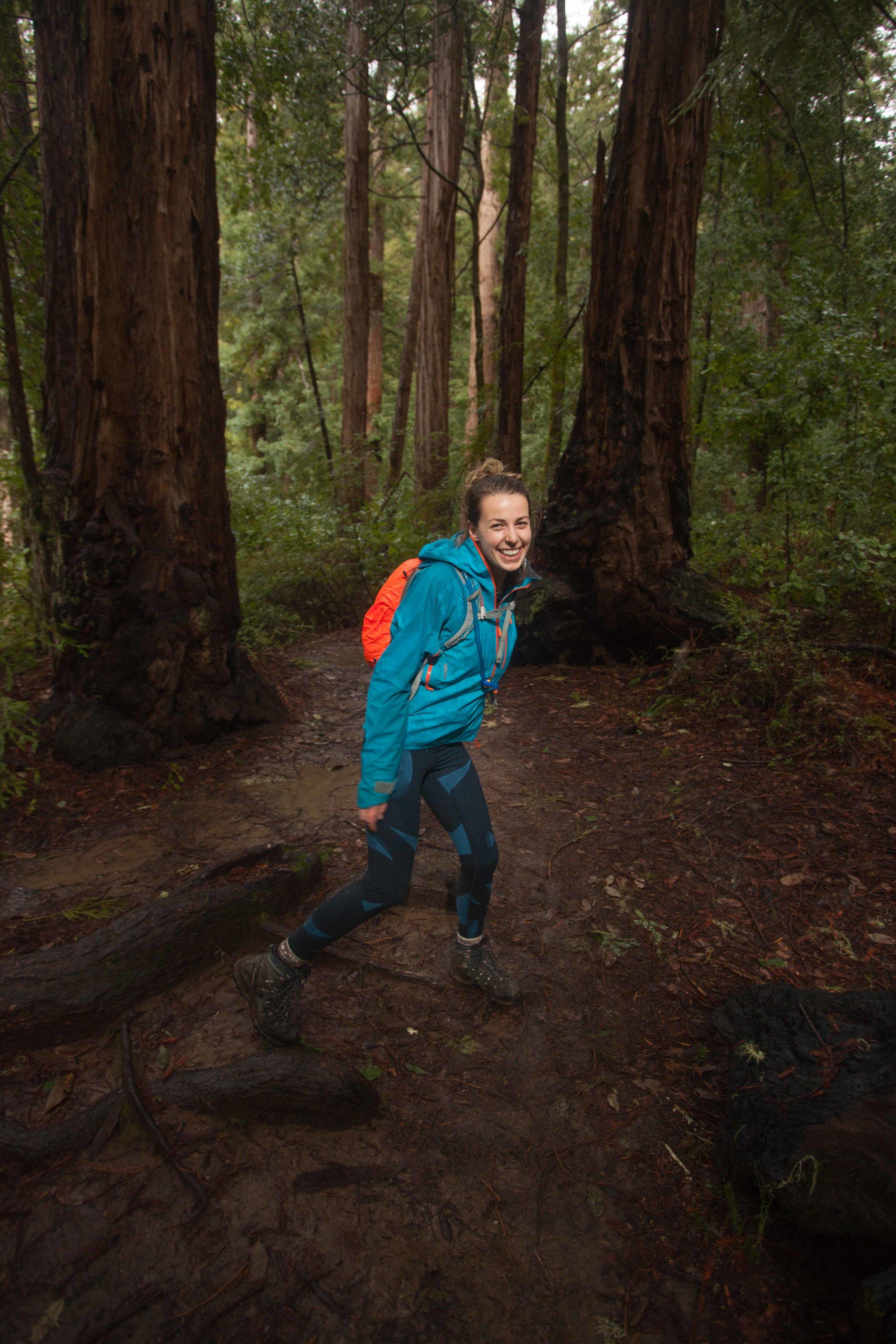 My beautiful girlfriend in the redwoods of California!