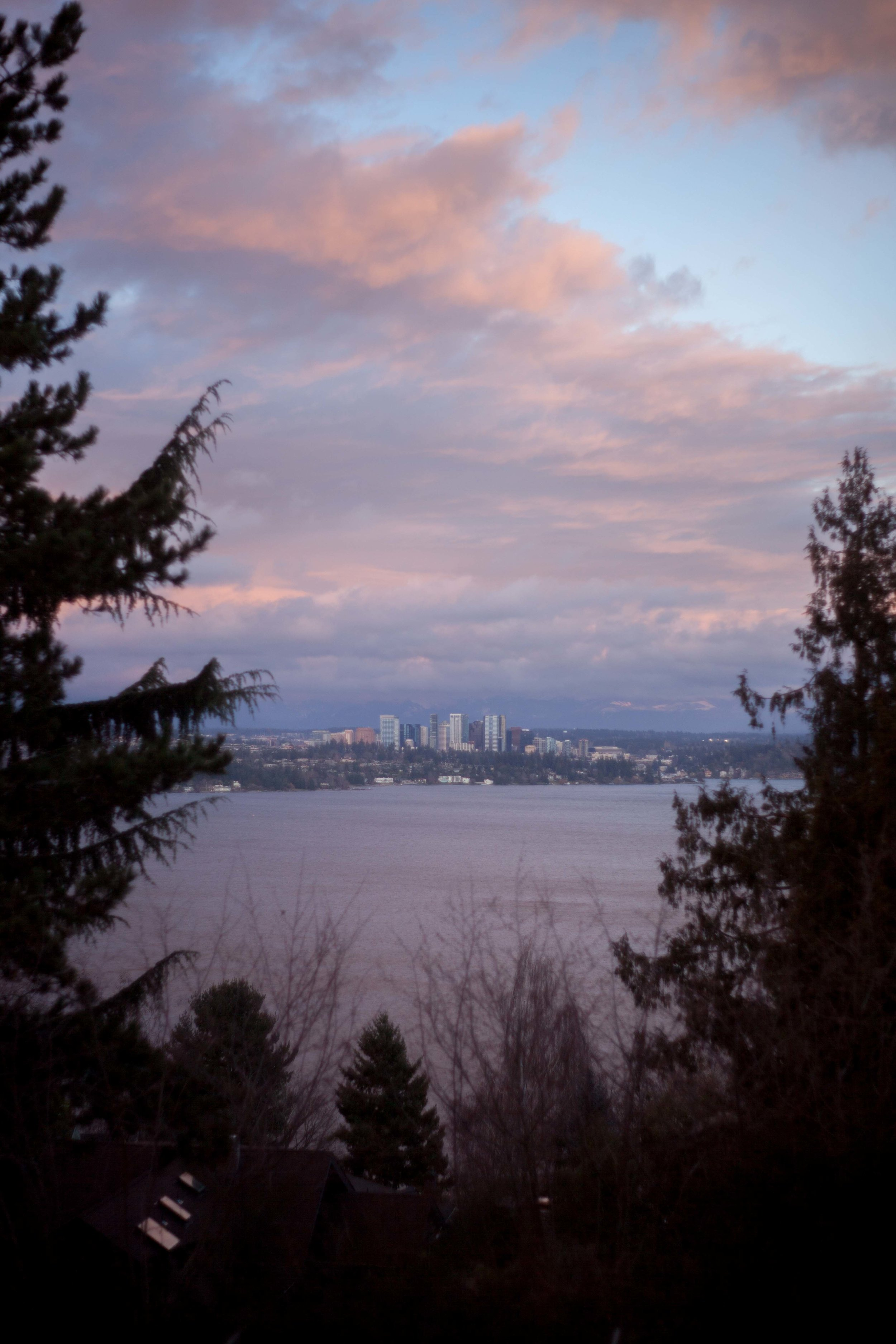 The view from Seattle towards Bellevue. I love Seattle