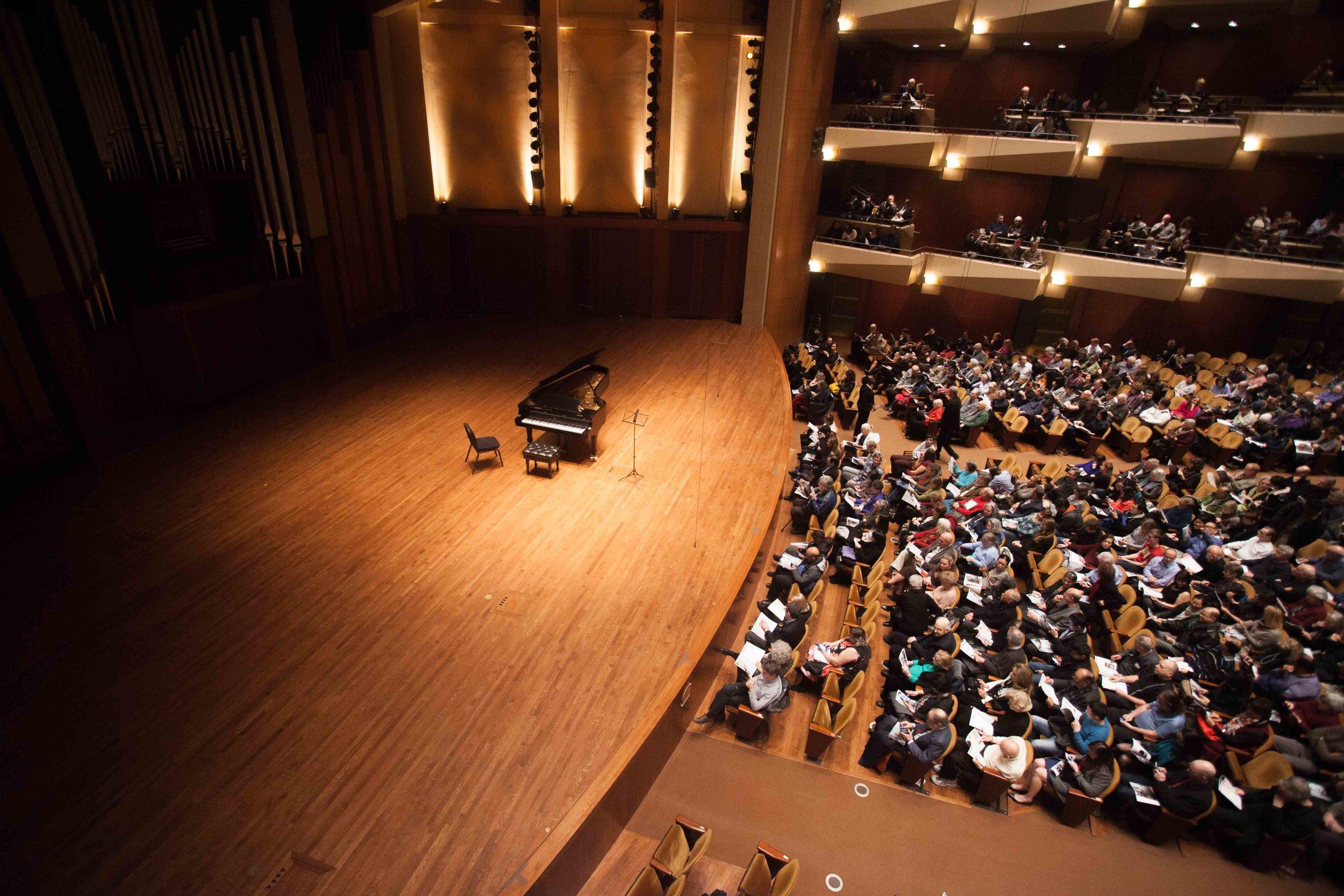 Benaroya Hall in Seattle for violin and piano sonatas!