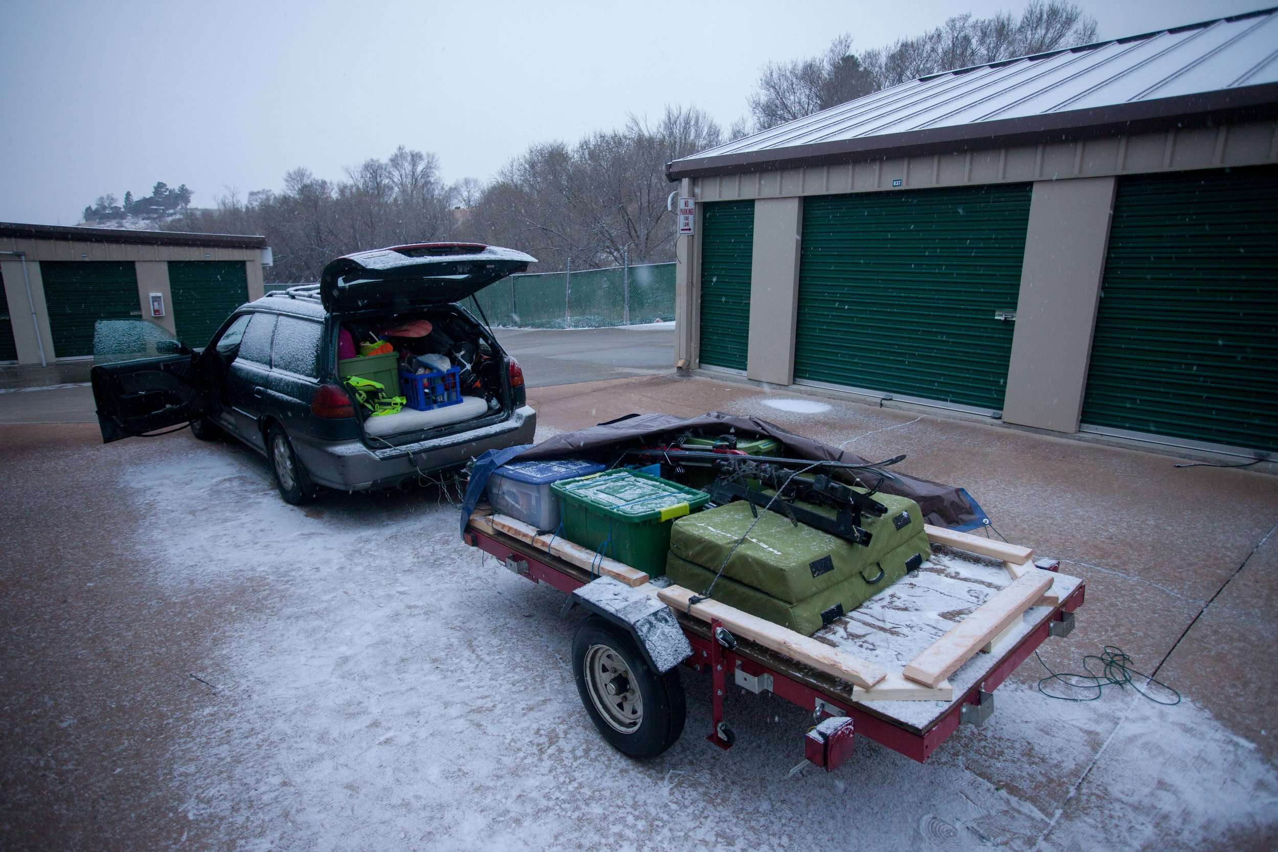 Of course, Colorado had to snow while I was cleaning my storage unit.