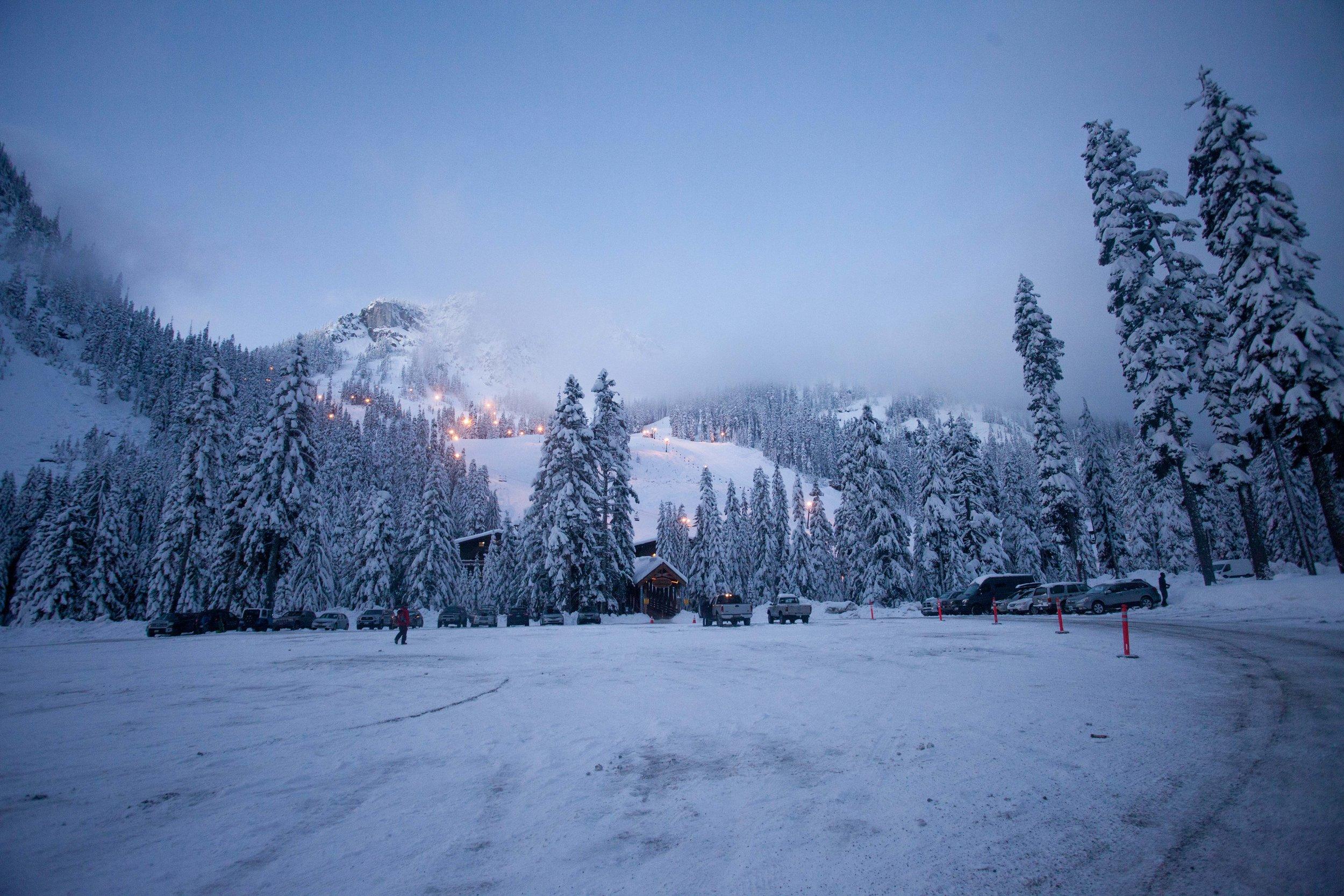 Alpental at dawn