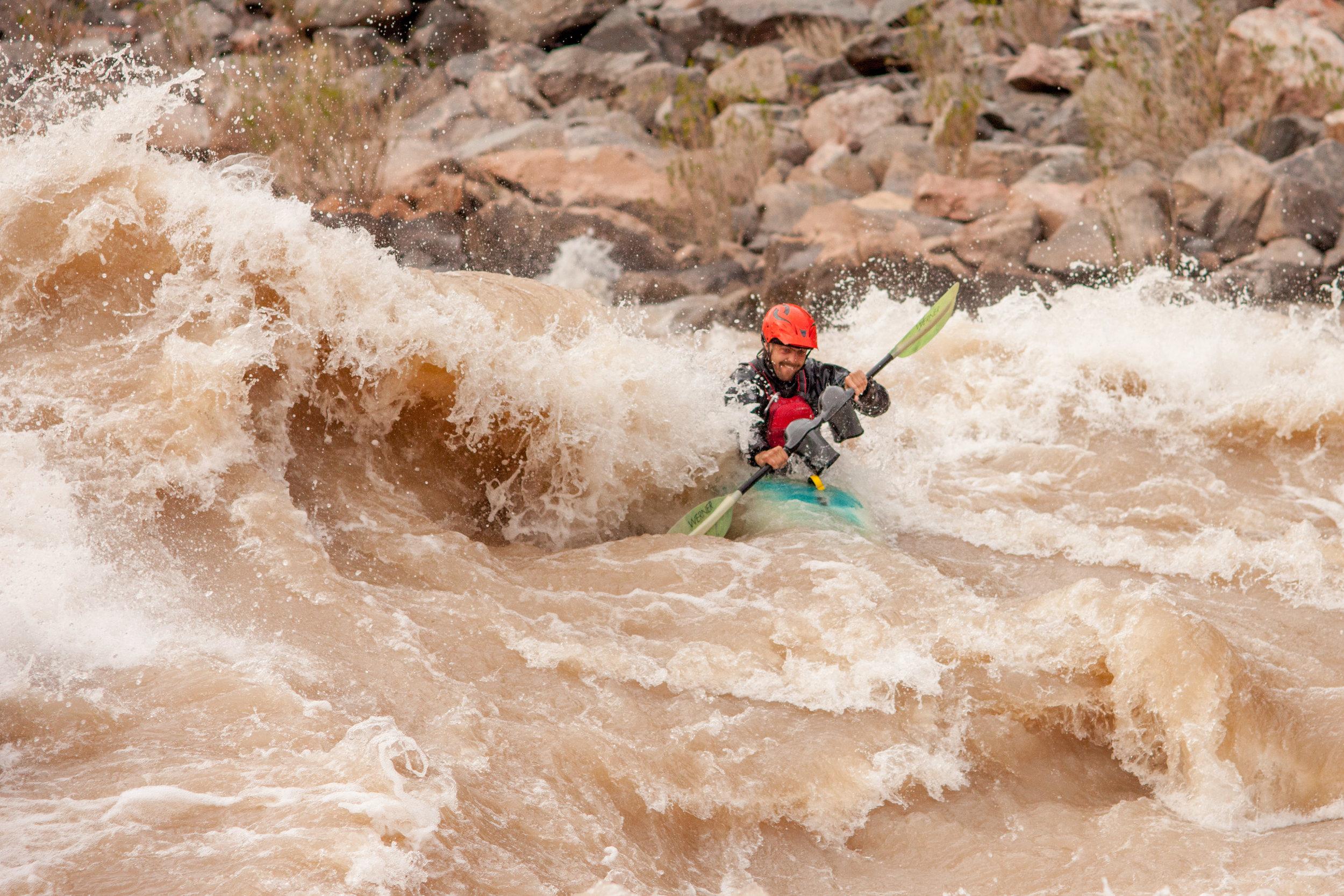 Kayaking Hermit Rapid