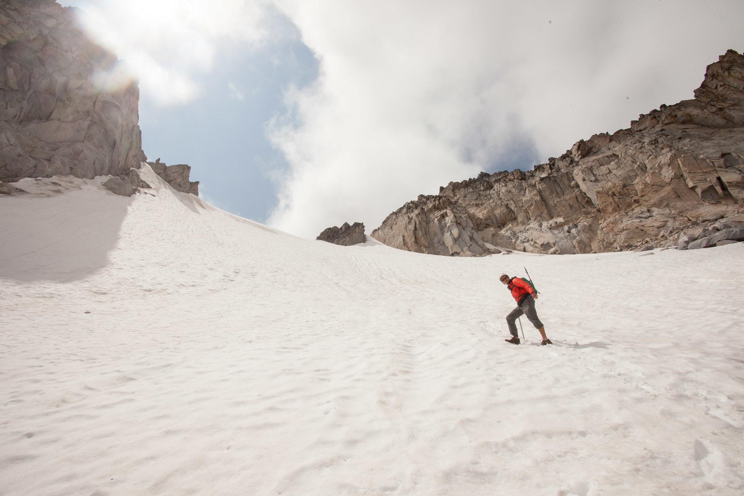 Descending Snow Creek Glacier