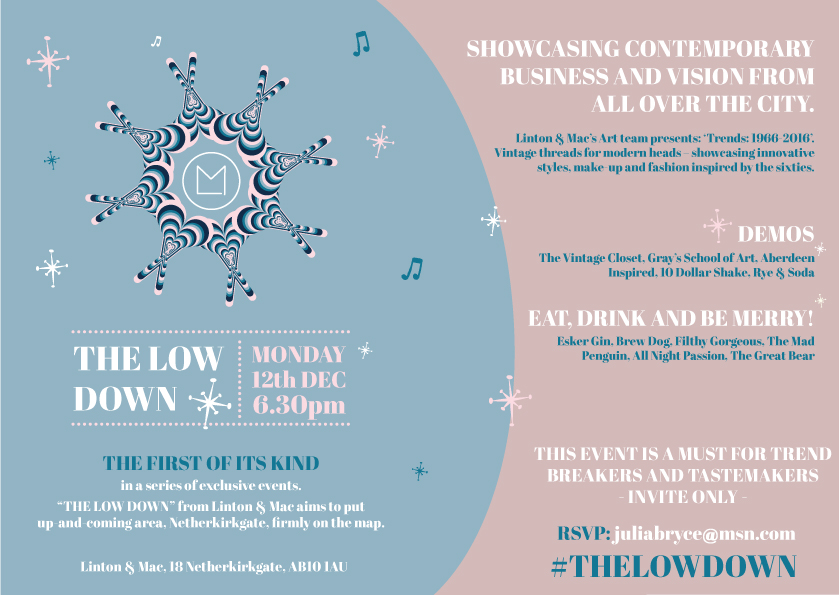 Invitation for The Low Down Event, from   Paper Skeleton