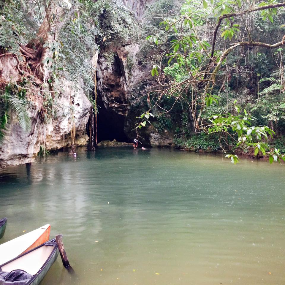 Canoeing through the Barton Creek Cave