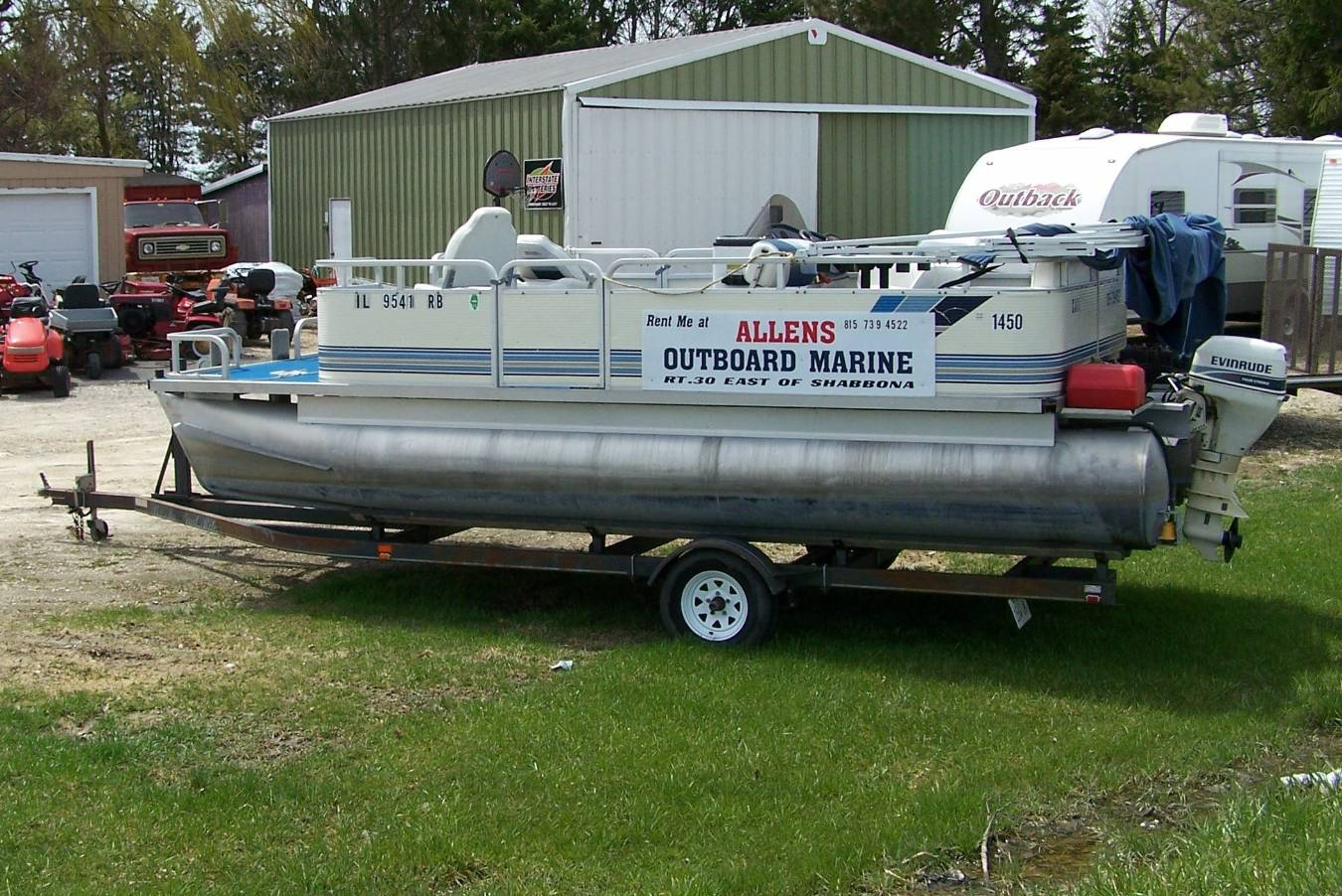 ALLEN Outboard Marine & Lawn Equipment   4778 Rte. 30 (P.O. Box 292) Shabbona, IL 60550   815-824-8377 FAX: 815-824-8378   E-mail: al554@aol.com