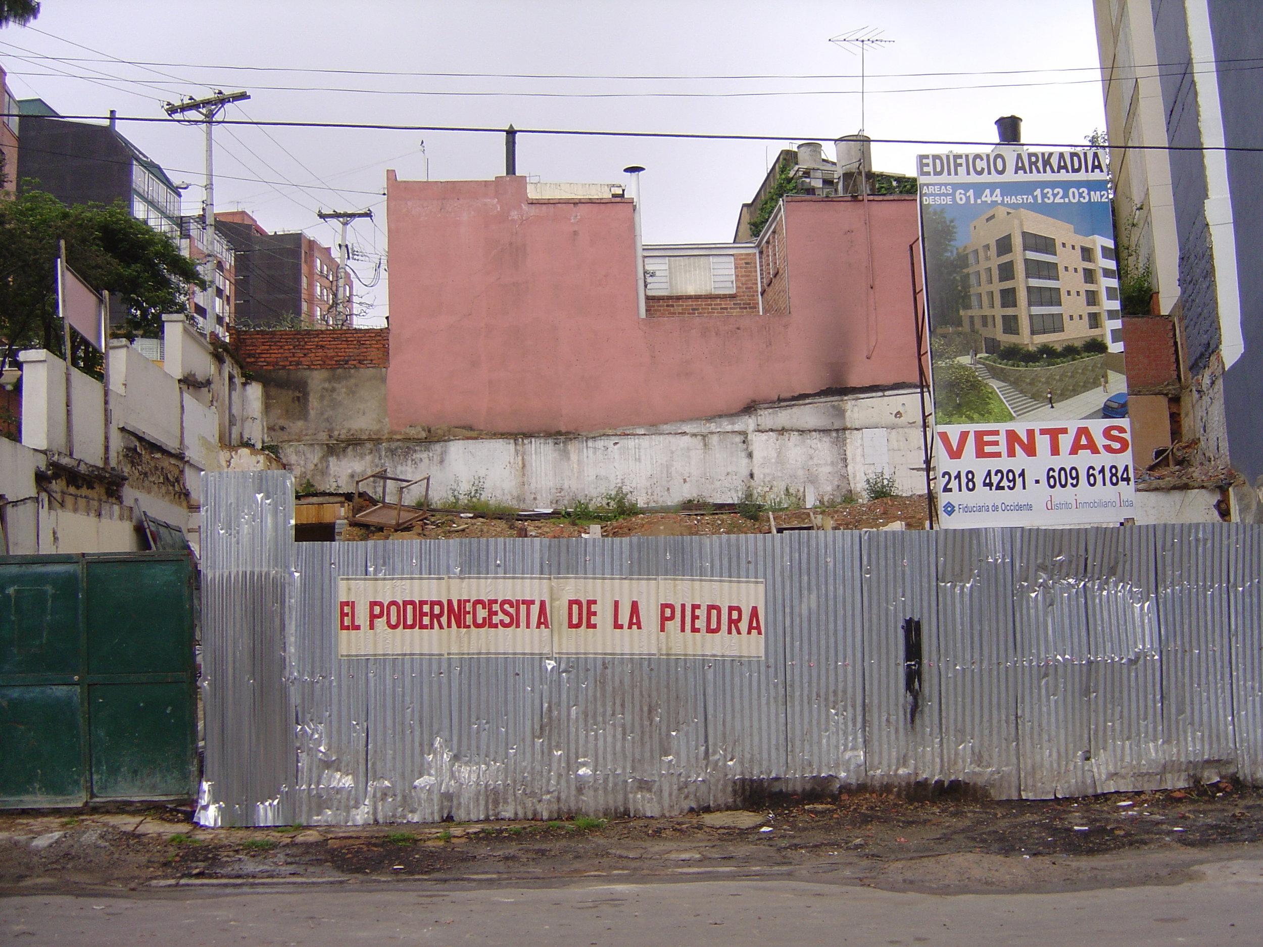 """""""Tercera Etapa""""   Carteles,intevención en espacio público   2008"""