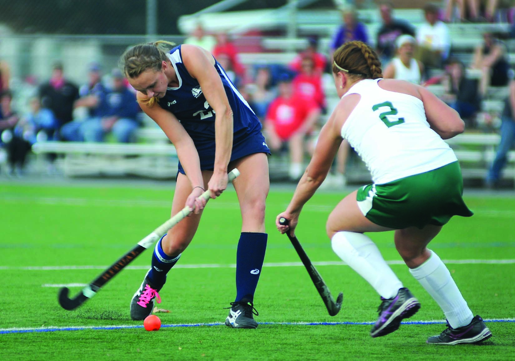 Lucy Kauffman '15 anchored the 2014 Ship field hockey defense that set a school record for fewest goals allowed in a season.