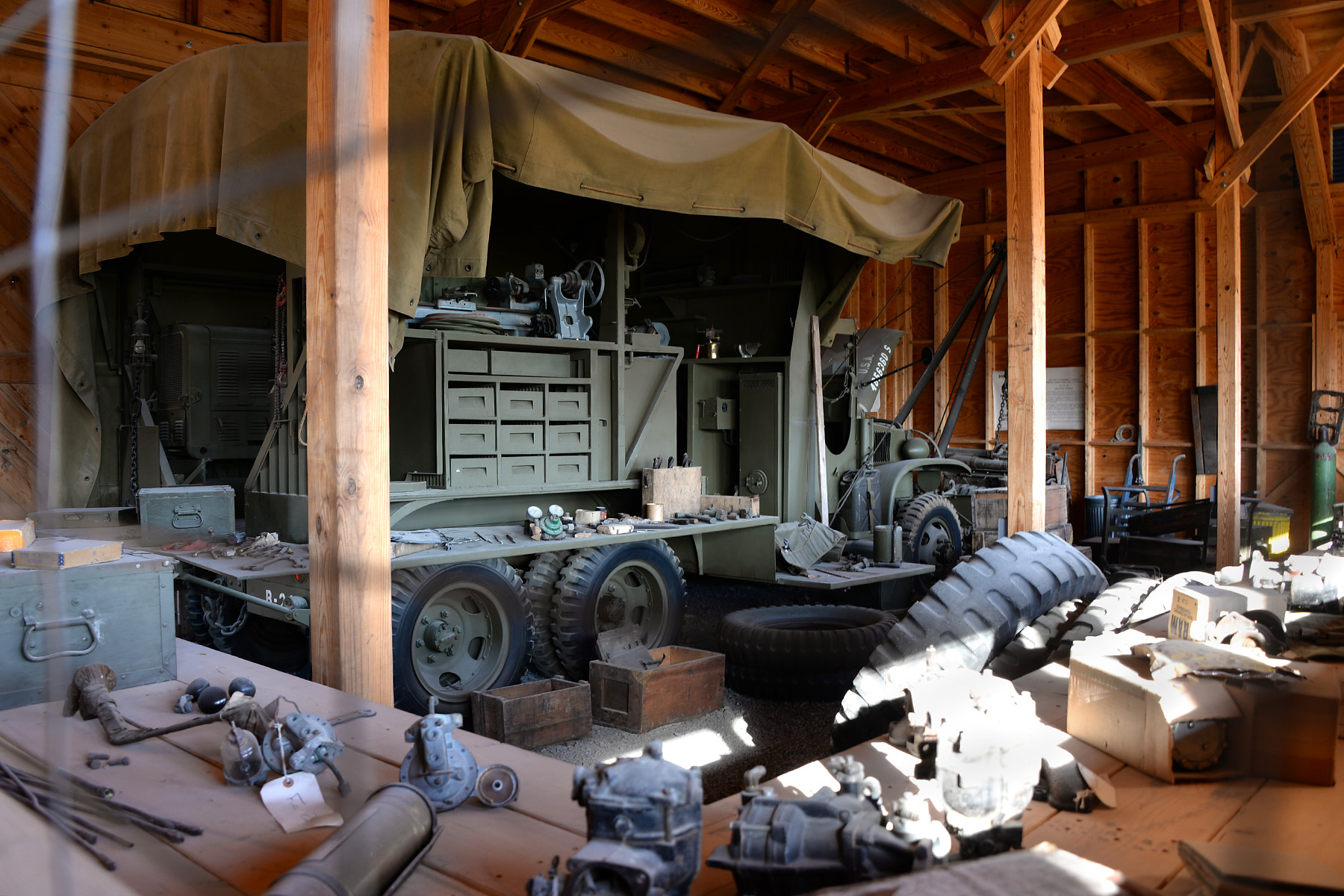 One of the outdoor exhibits at the US Army Heritage and Education Center in Carlisle.