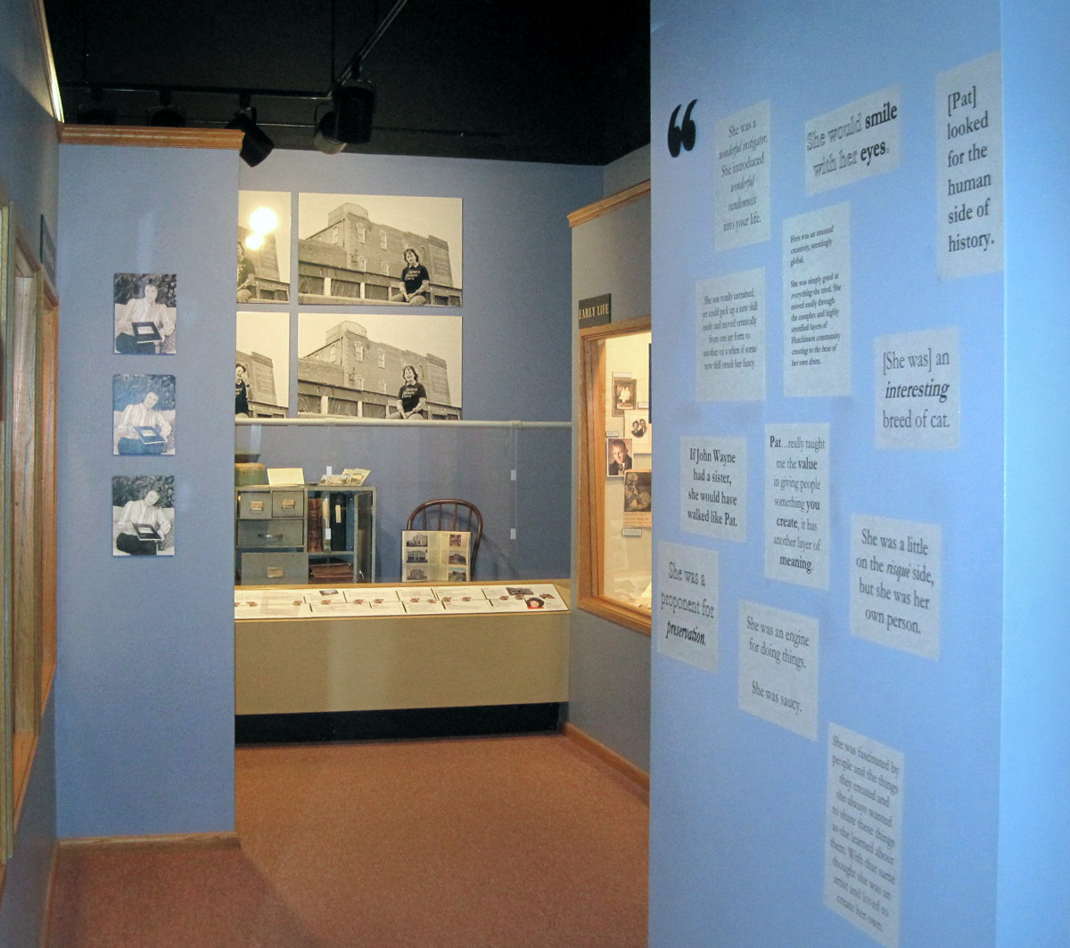 One of the five rotating exhibits at the Reno County Museum in Kansas.