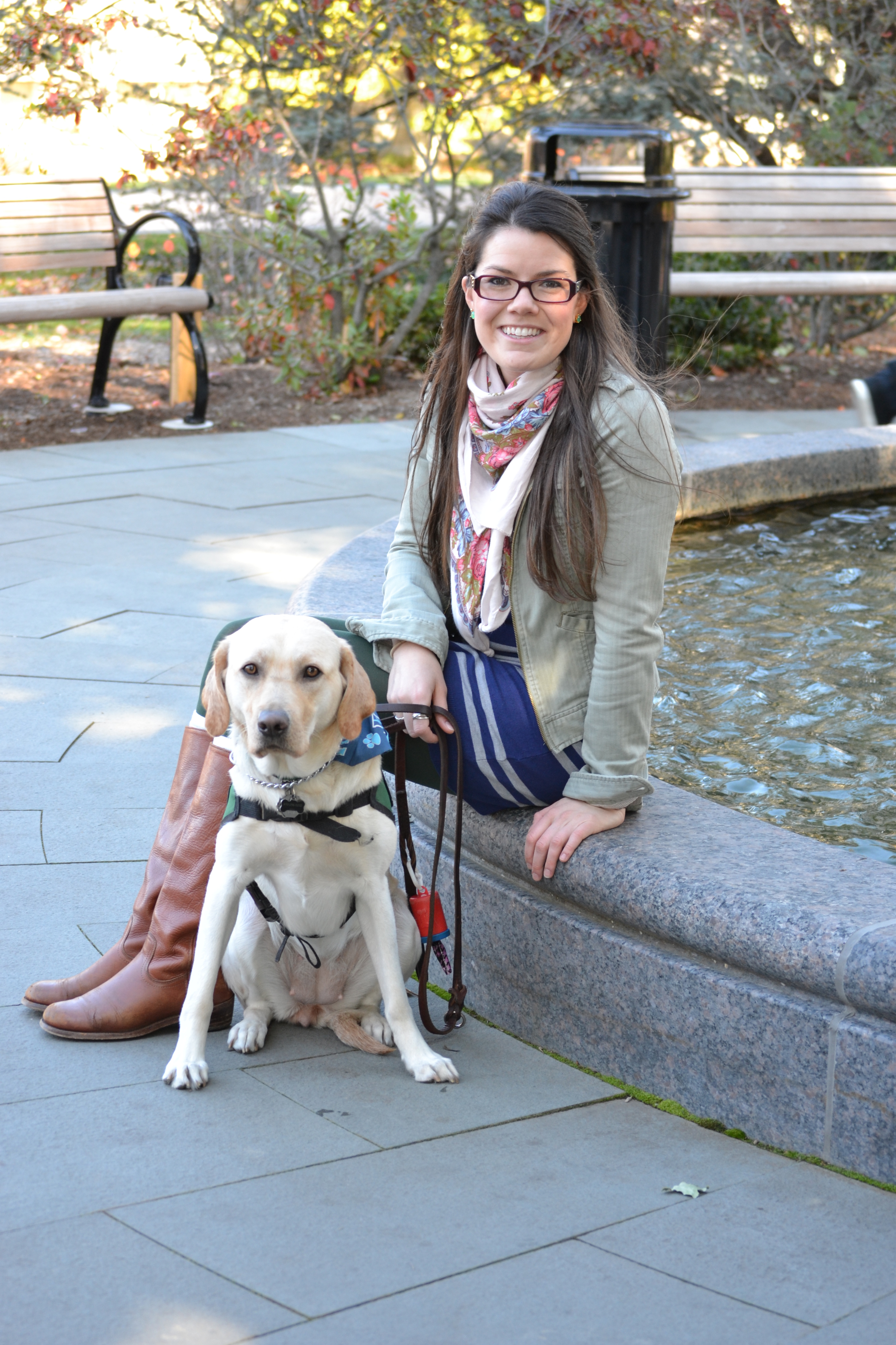 Laura Matthews '09 learned about The Seeing Eye through her work at Villanova University. Appropriately, the second dog she received was named Nova (above). Carey (below) was her first dog.
