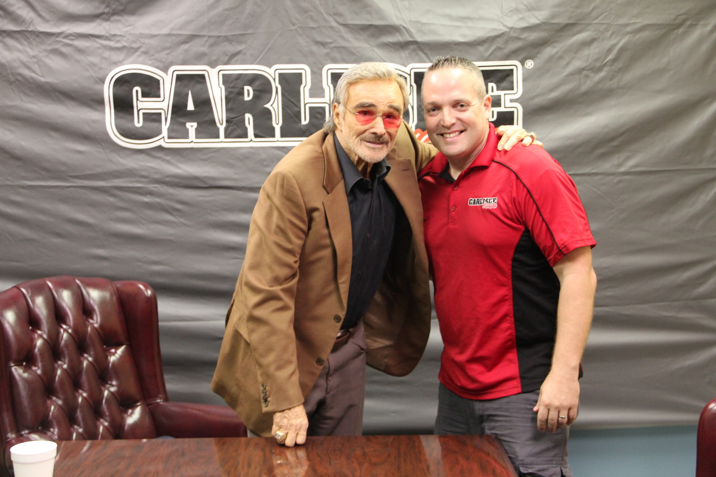Mike Garland hanging out with the one-and-only Burt Reynolds.