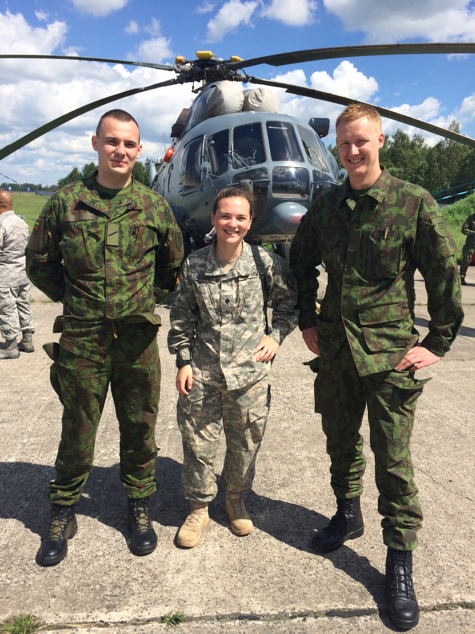 Liz Scheivert '16 taught English to members of the Lithuanian army during a summer Cultural Understanding and Language Proficiency mission.