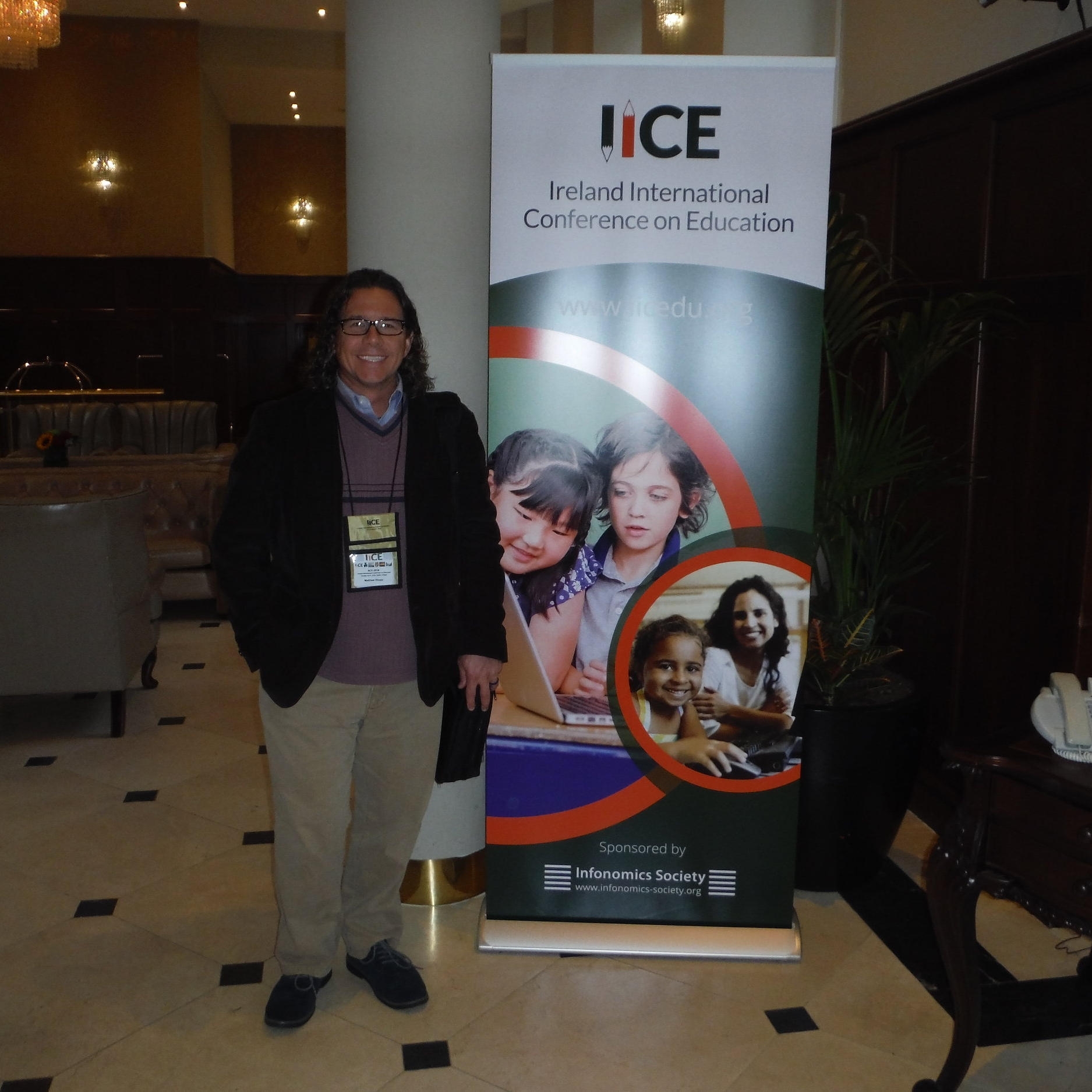 Dr. Matthew Shupp '00-'03M presented at the Ireland International Conference on Education last fall in Dublin.