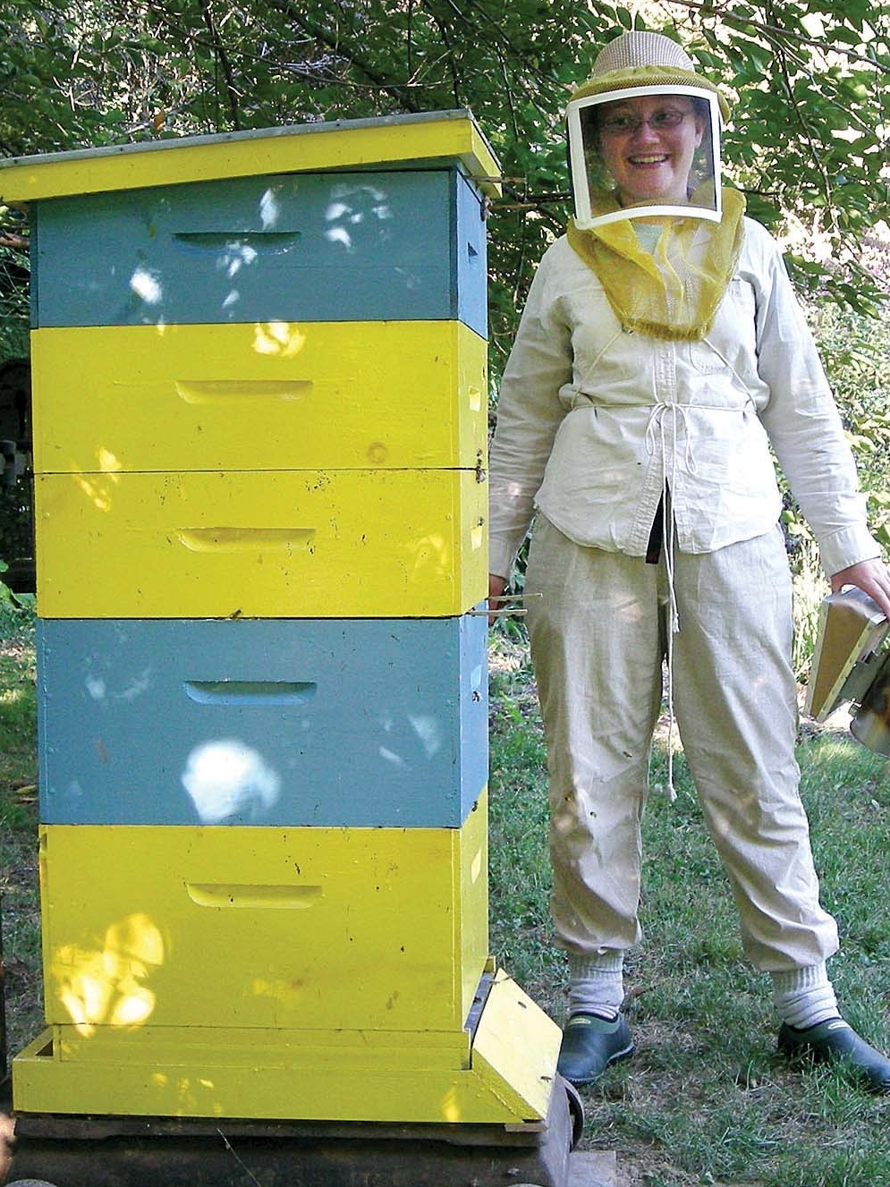 Bees are critical to the pollination of many crops, and humans can have a positive or negative impact on that process, said Dr. Claire Jantz. She and her husband have maintained beehives since 2005.