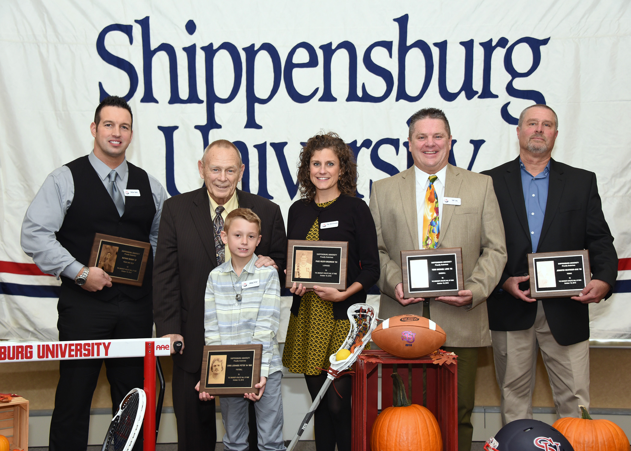 Newly minted members of Shippensburg University's Athletic Hall of Fame were honored during Homecoming in October.