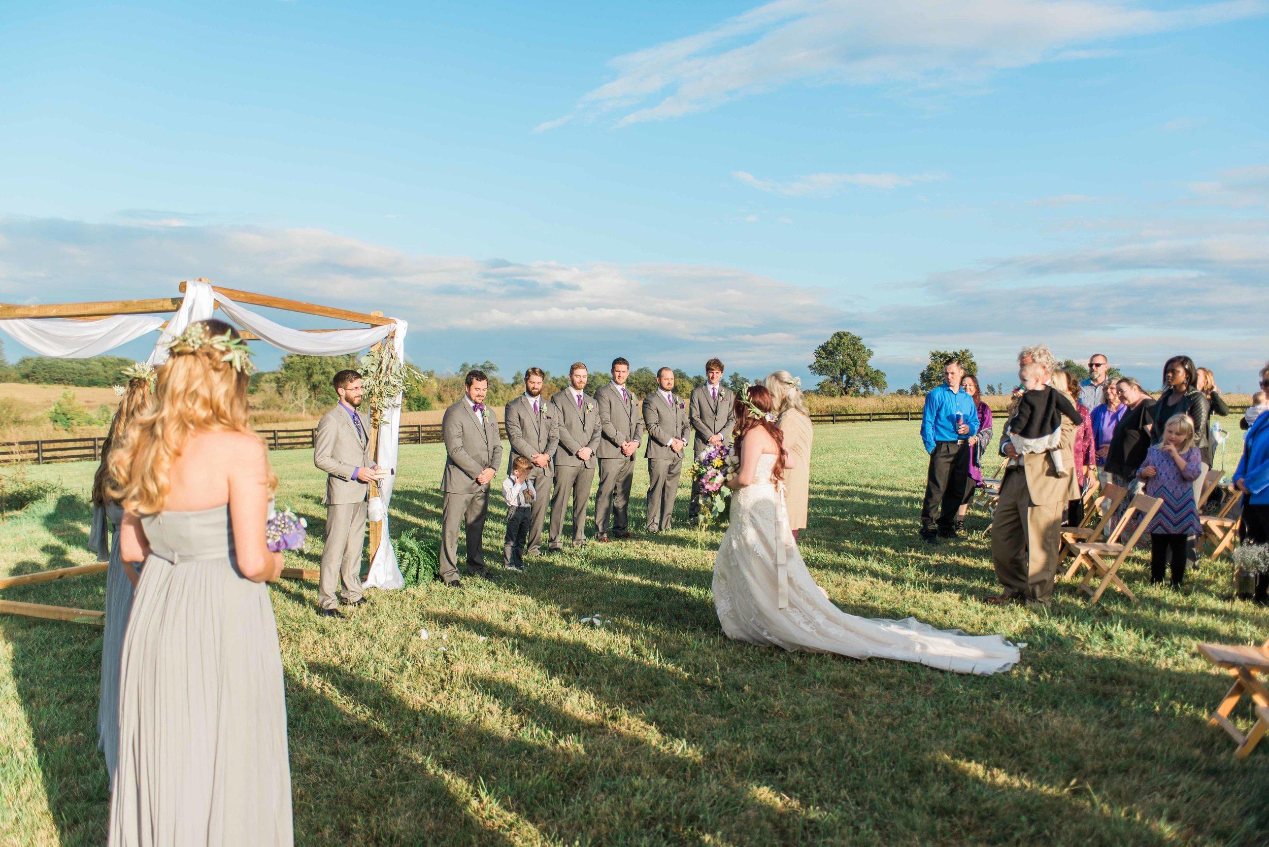 Kentucky outdoor wedding