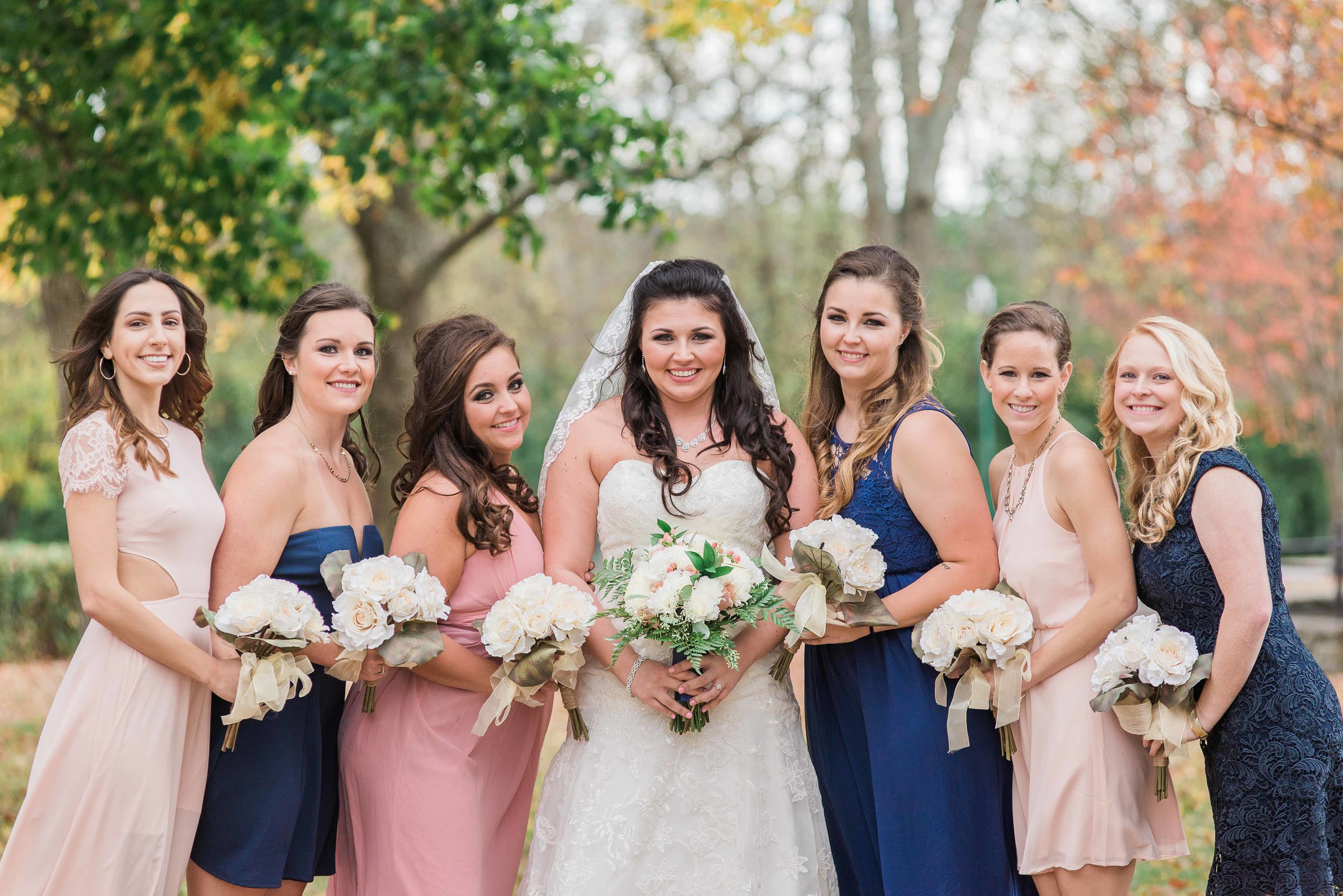 Bride and her bridesmaids at the Cardome Center in Georgetown, KY