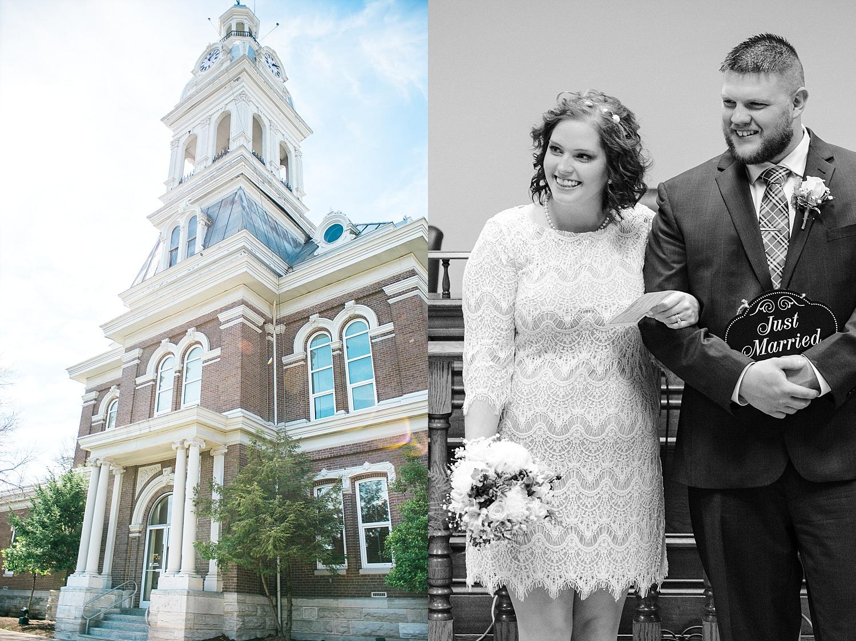 Jessamine County courhouse wedding