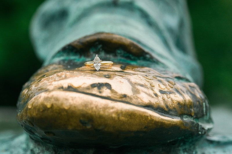 This unique ring shot was taken on the shoe of Daniel Boone! haha!