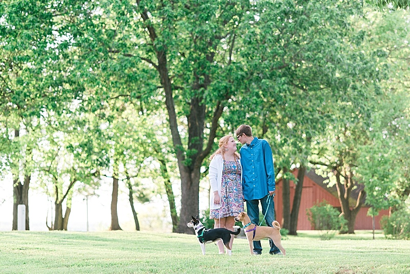 engagement sessions with pets in Kentucky