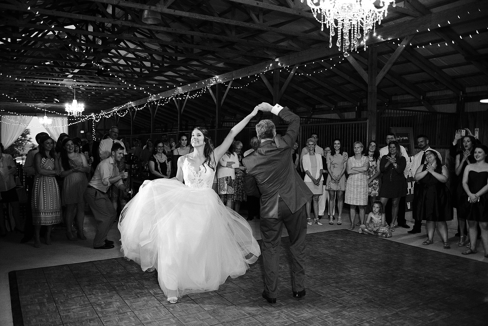 The bride and her dad did an amazing dance together!  So cute!
