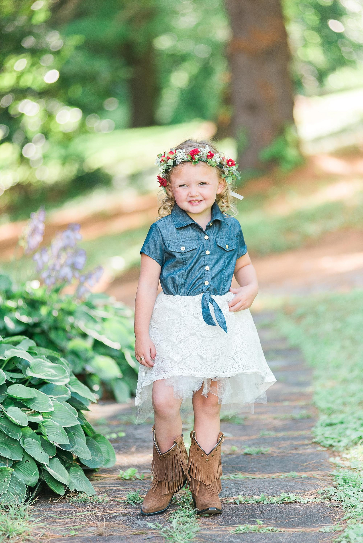 Such a sweet little flower girl!