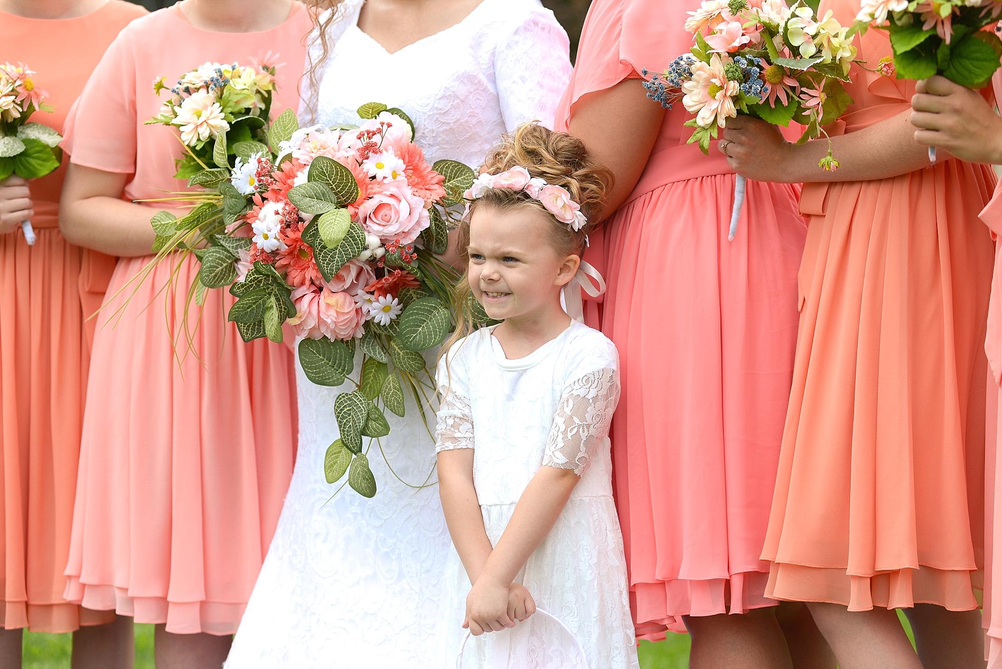Little McKinley...such a precious little flower girl!