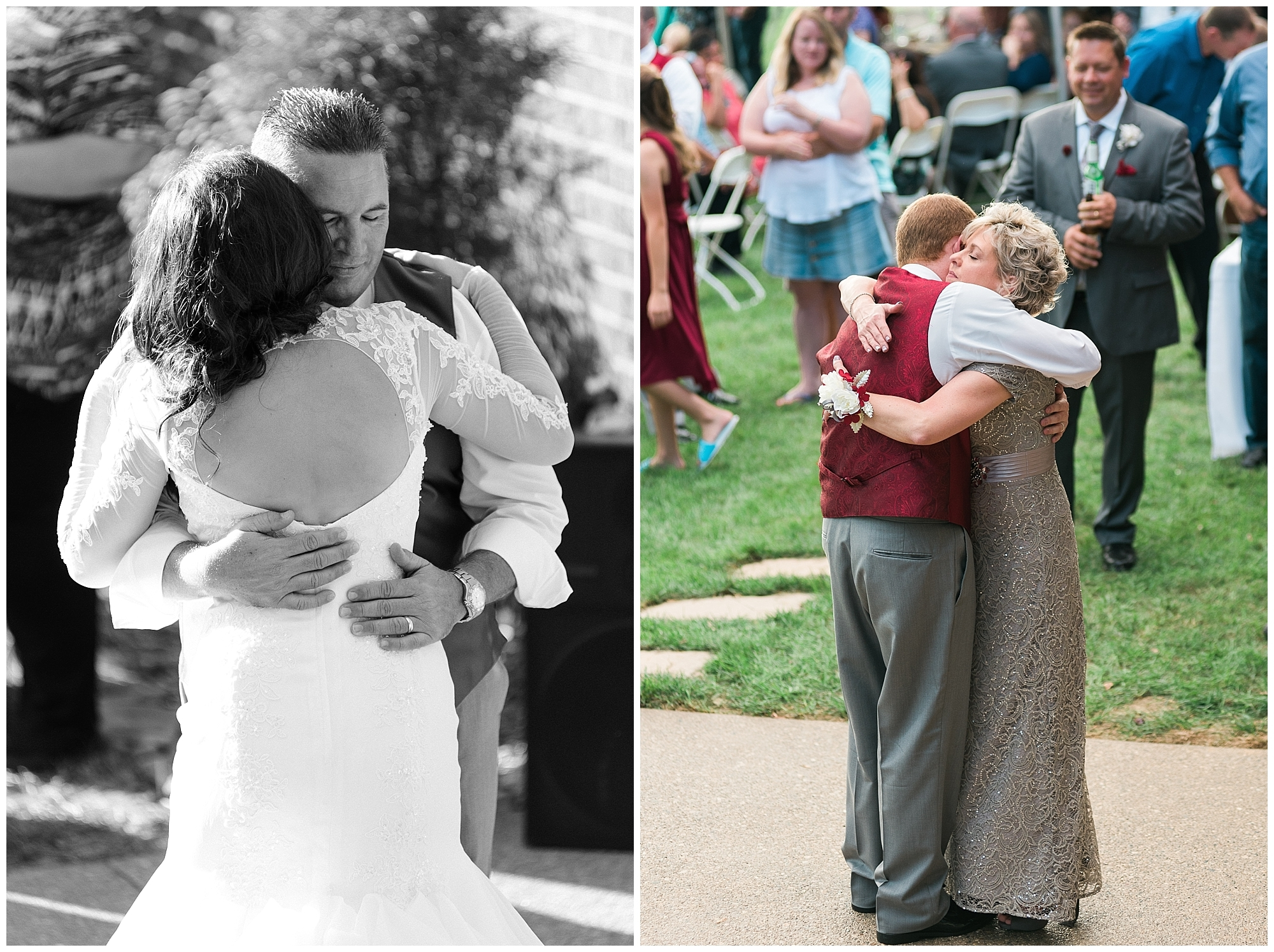 Sweet father-daughter and mother-son dances
