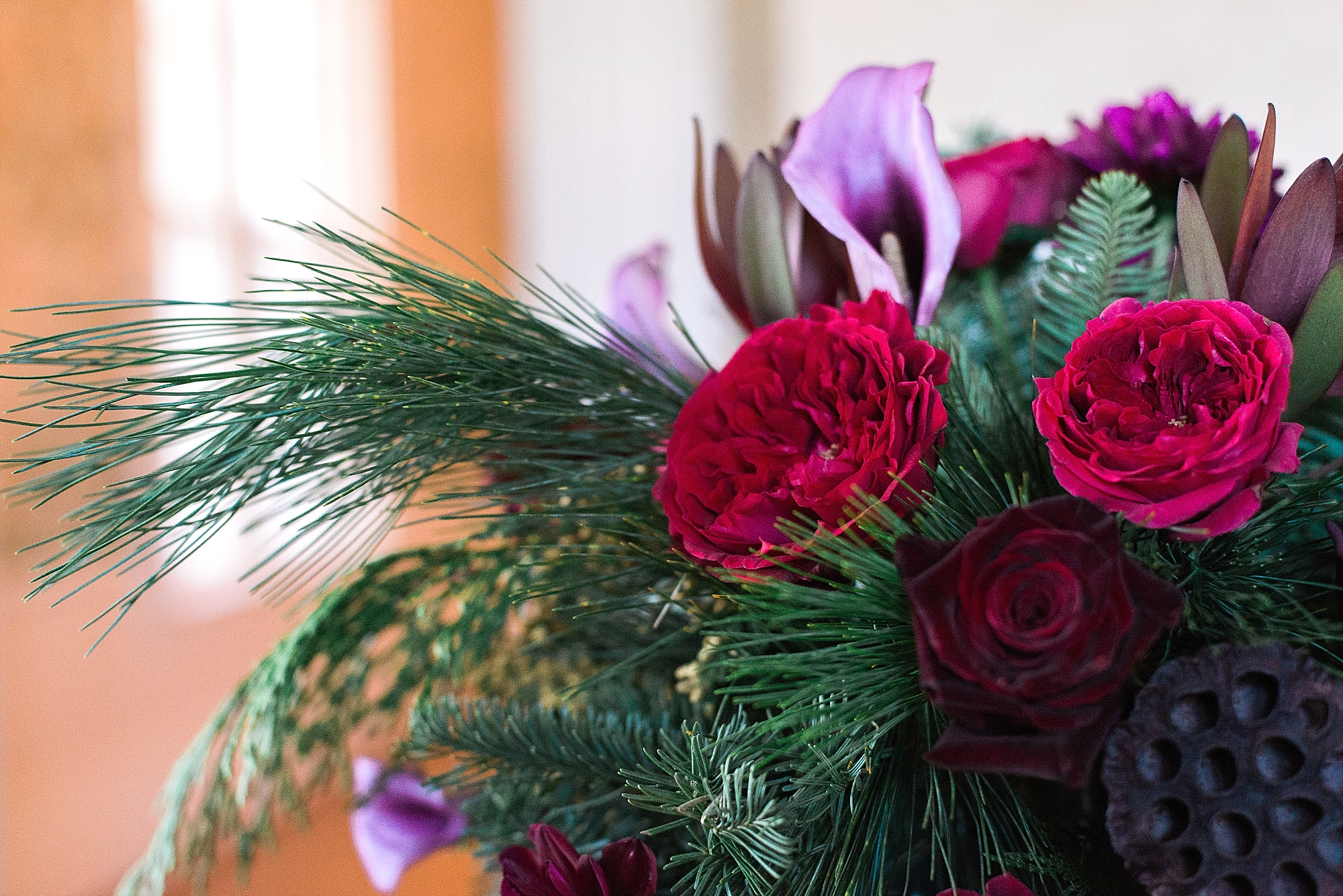purple-red-centerpieces