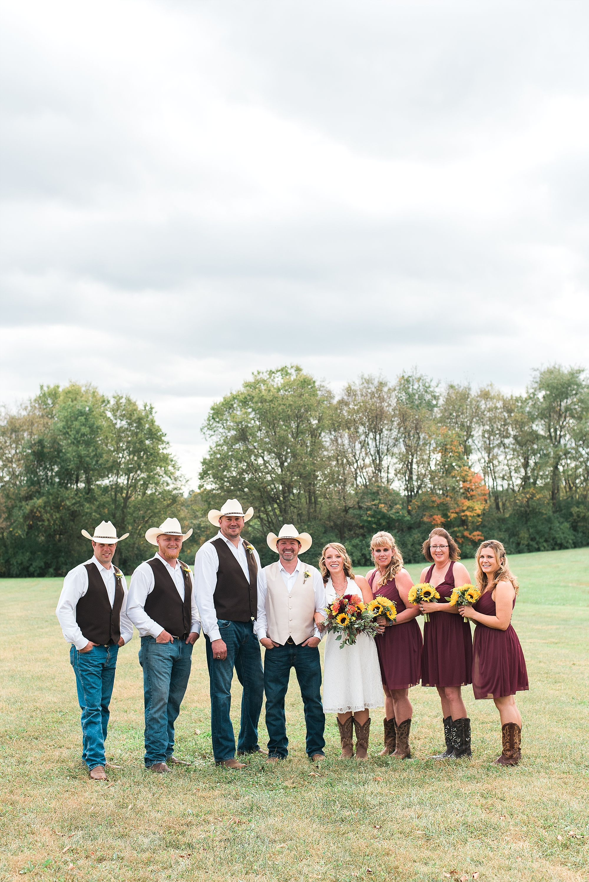country-wedding-party
