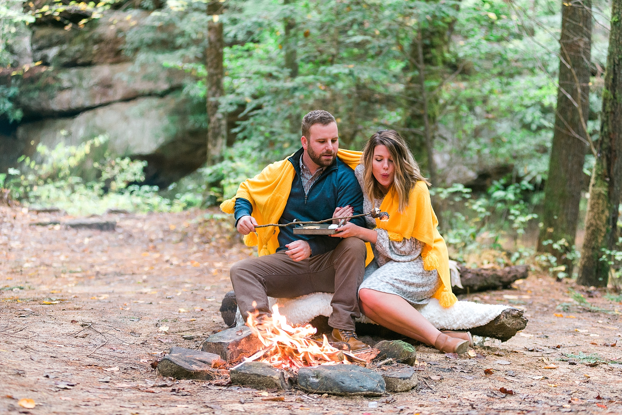 camping-engagement-session
