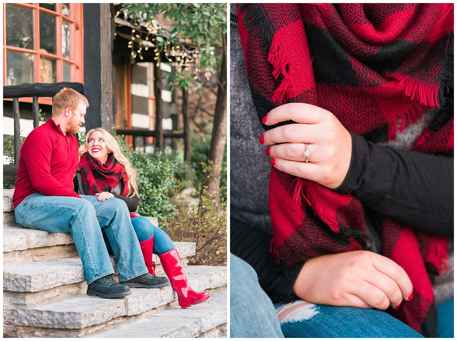red-engagement-outfits