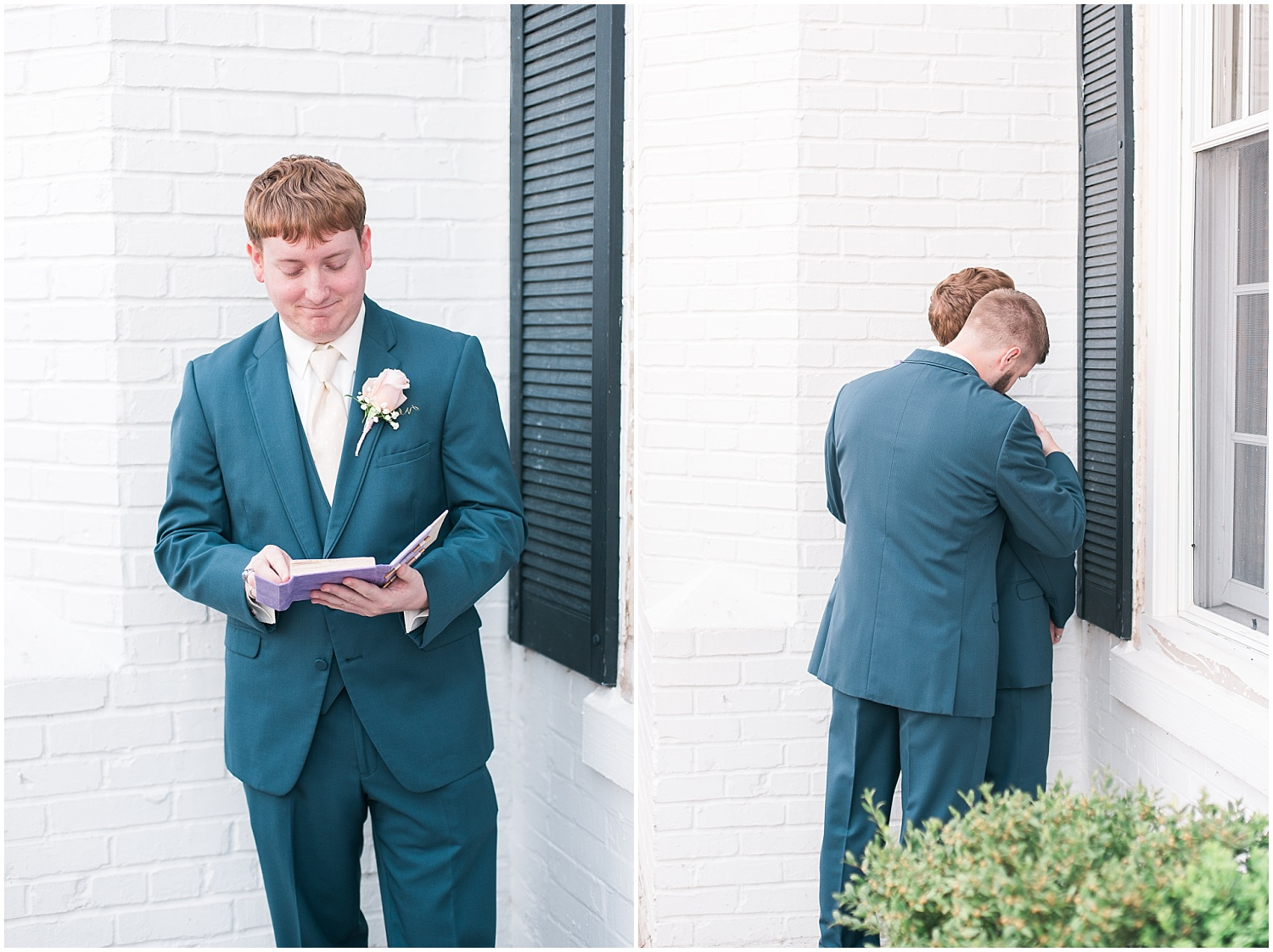 Taylor read a sweet letter from his bride. His brother was there to calm his nerves!