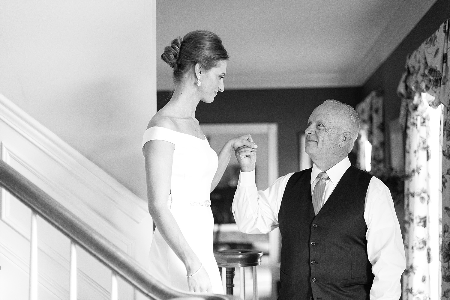 Love this first look with Emily's dad!