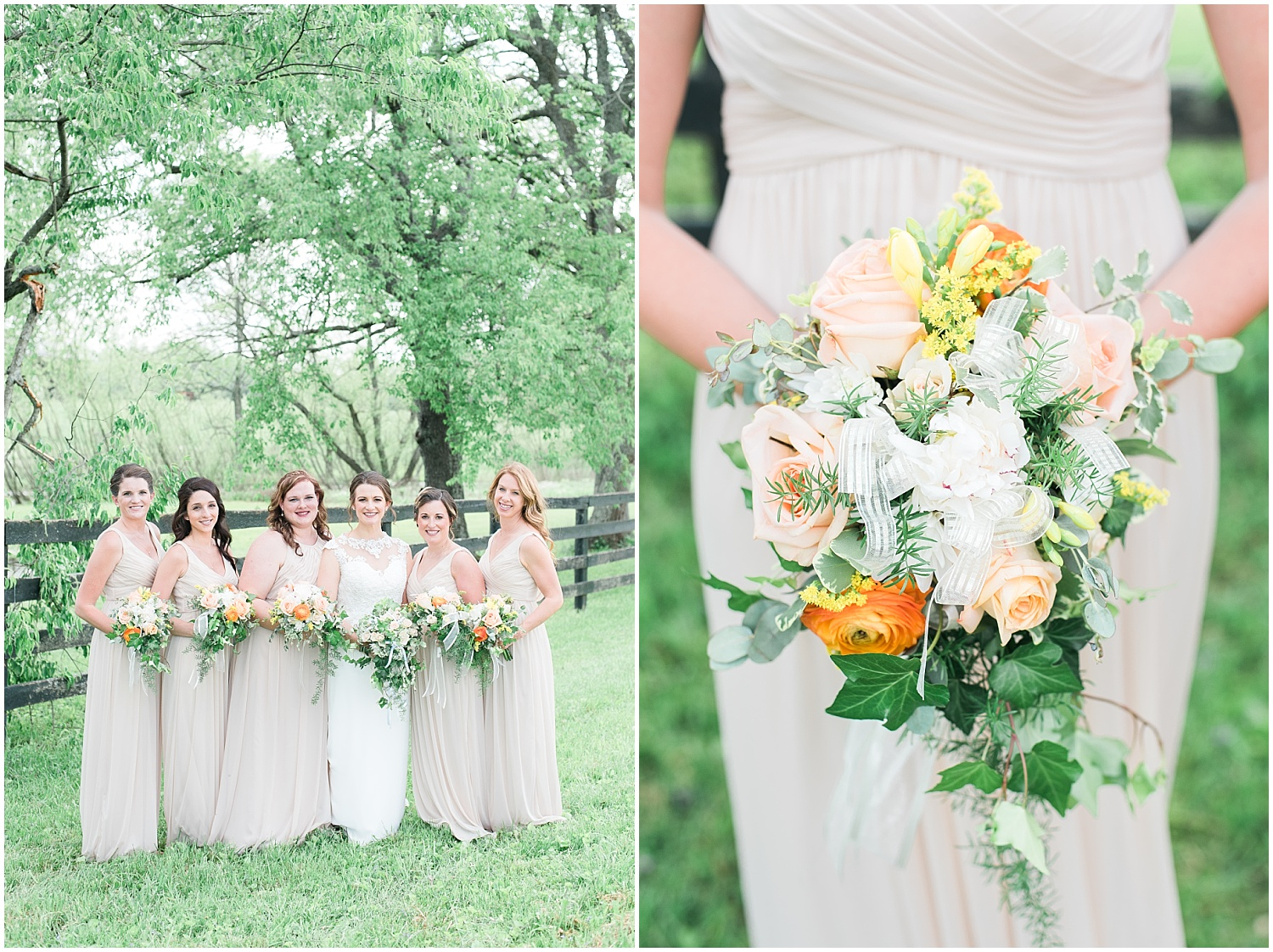 champagne-bridesmaids-gowns