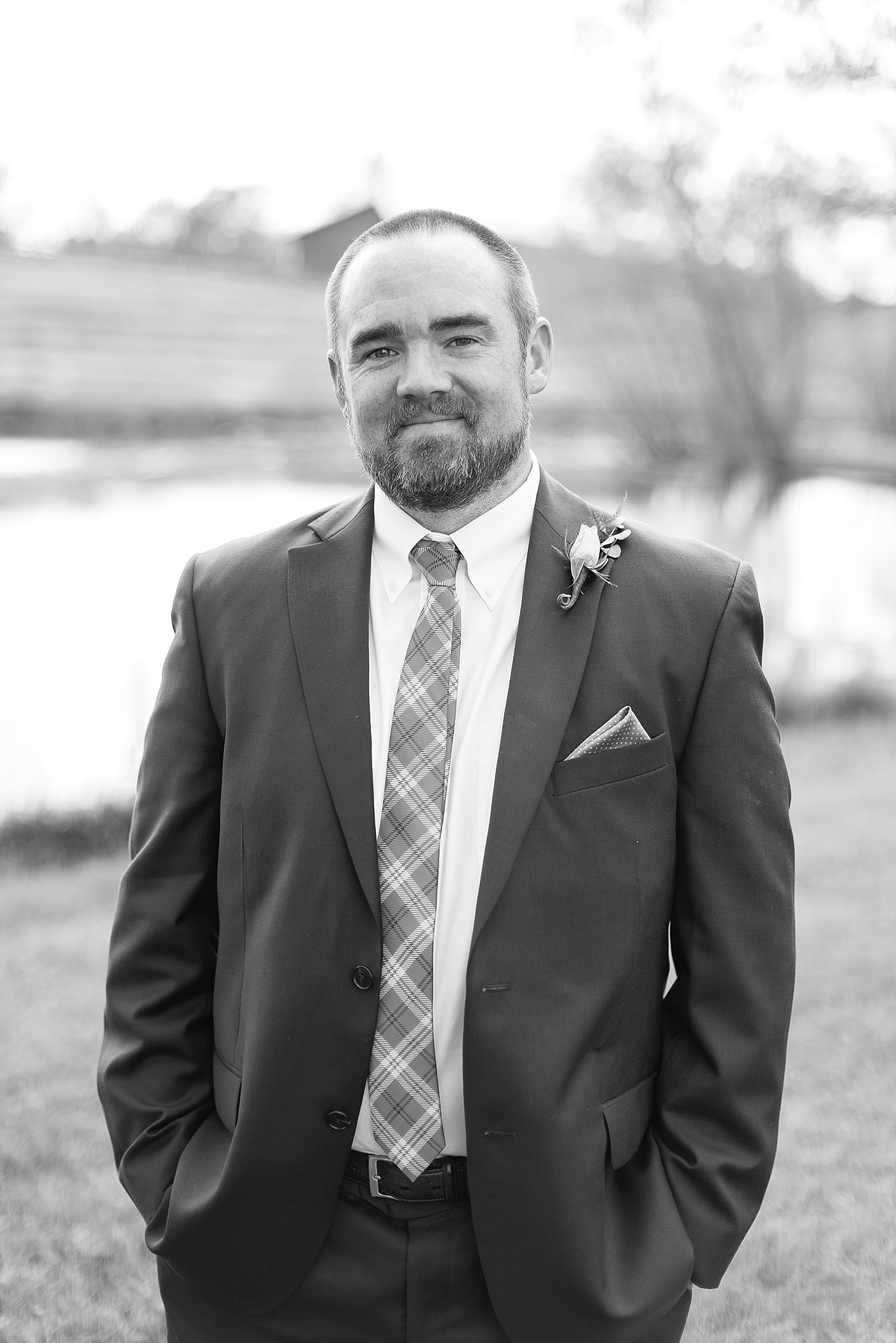 black-white-groom-portrait