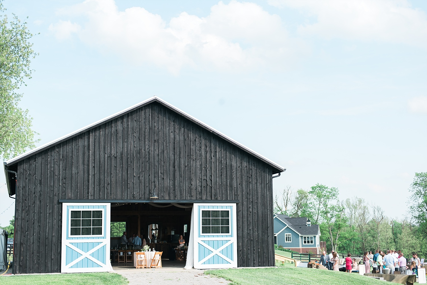 This is the cutest barn! The cocktail hour was held outdoors next to it.