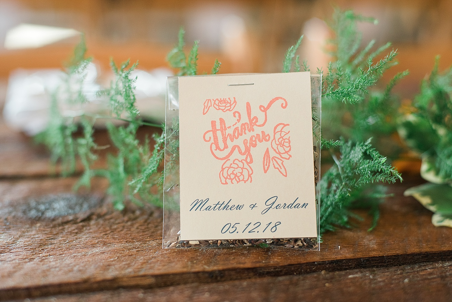 Jordan and Matthew gave out wildflower seeds as favors to their guests! So fun!