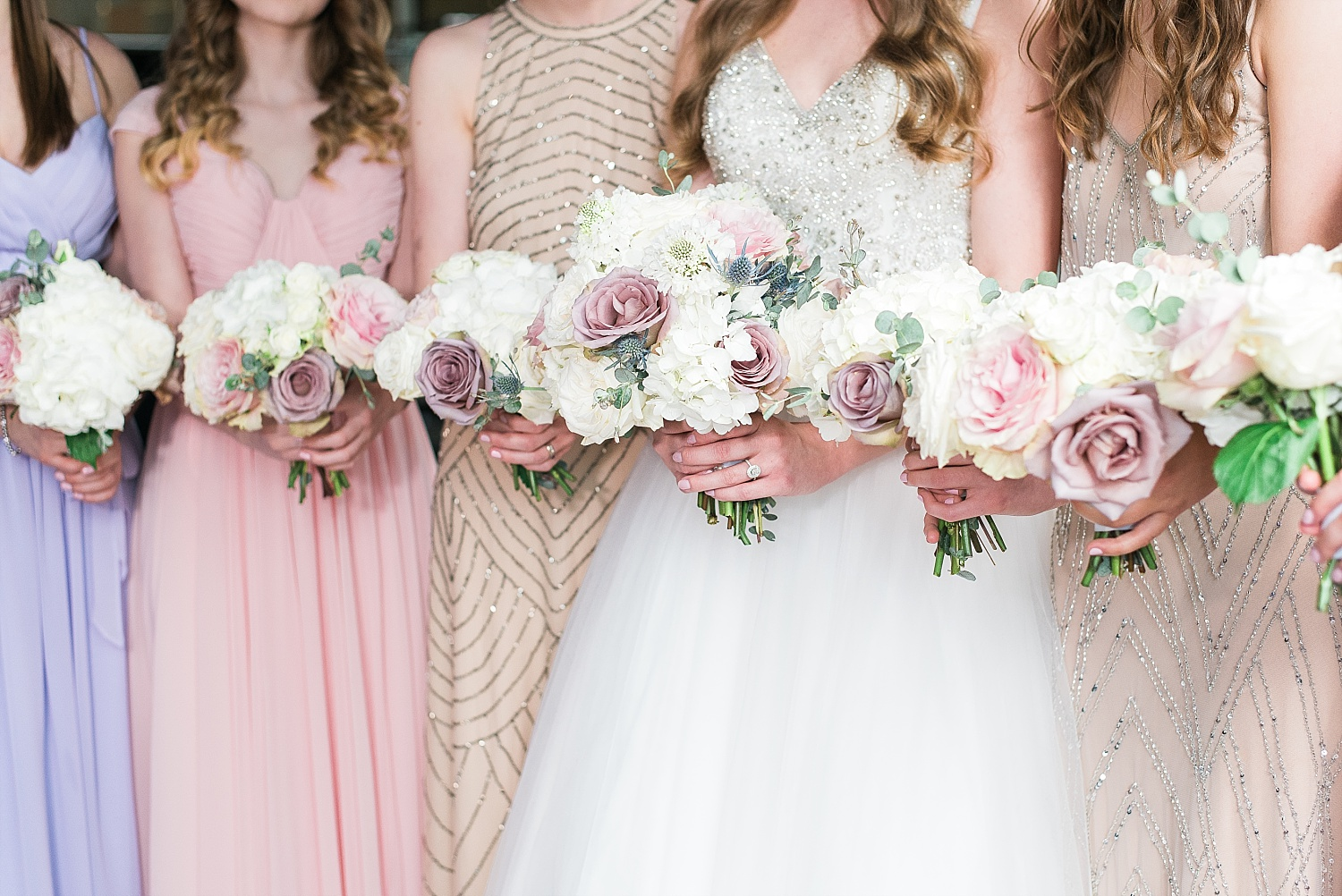 Love the colors in the bouquets!