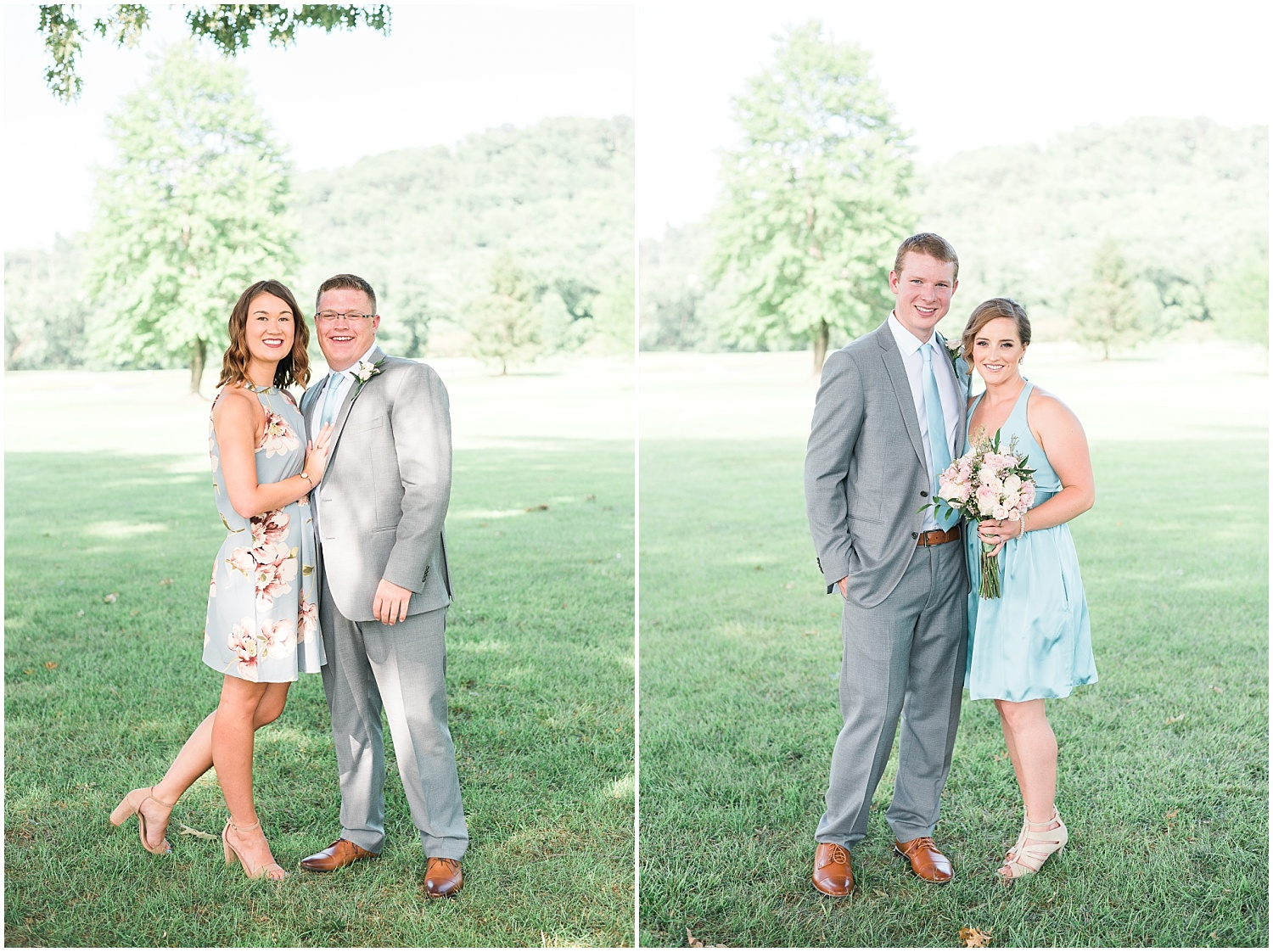 You might recognize the couple on the right from a wedding last fall, Stephanie and Michael!