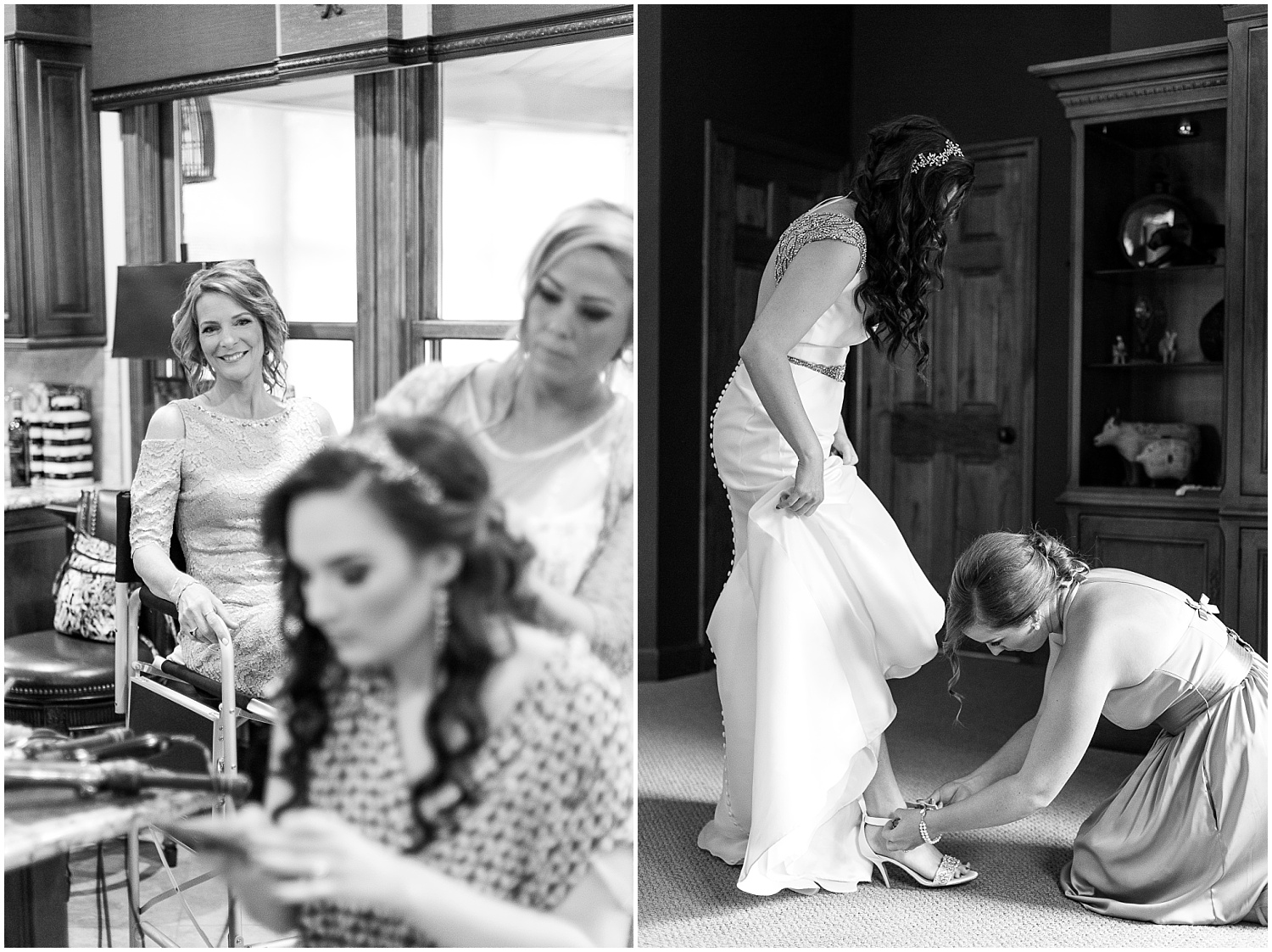 Love this of Stephanie's mom watching her get ready for her special day!