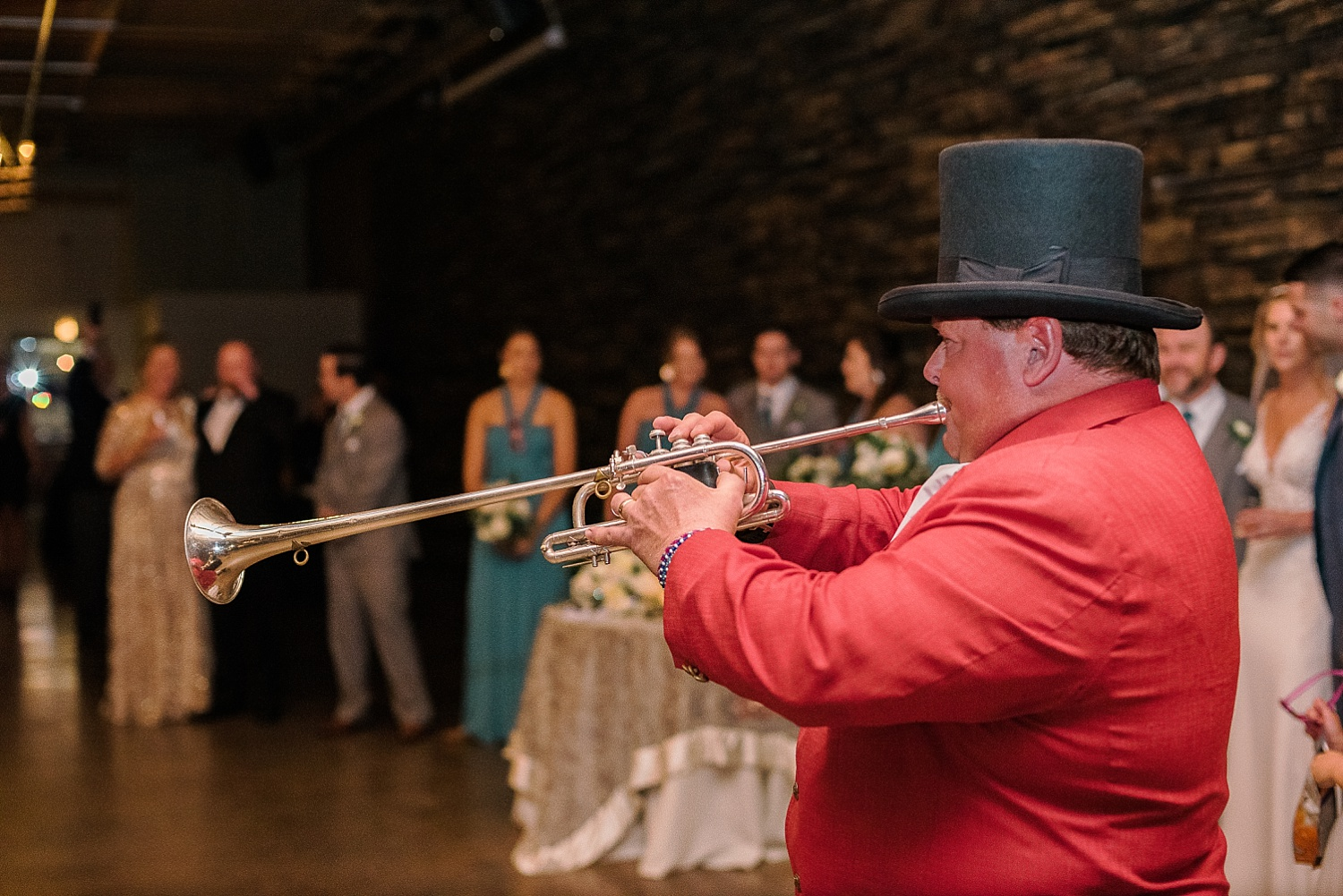 The Keeneland bugler was at the wedding! How fun is that?!