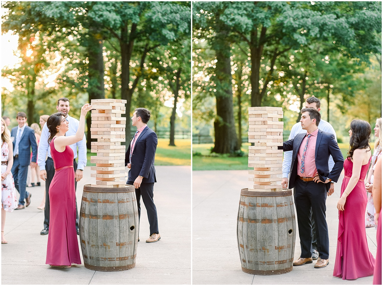 We waited for the Jenga to fall but it never did! ha!