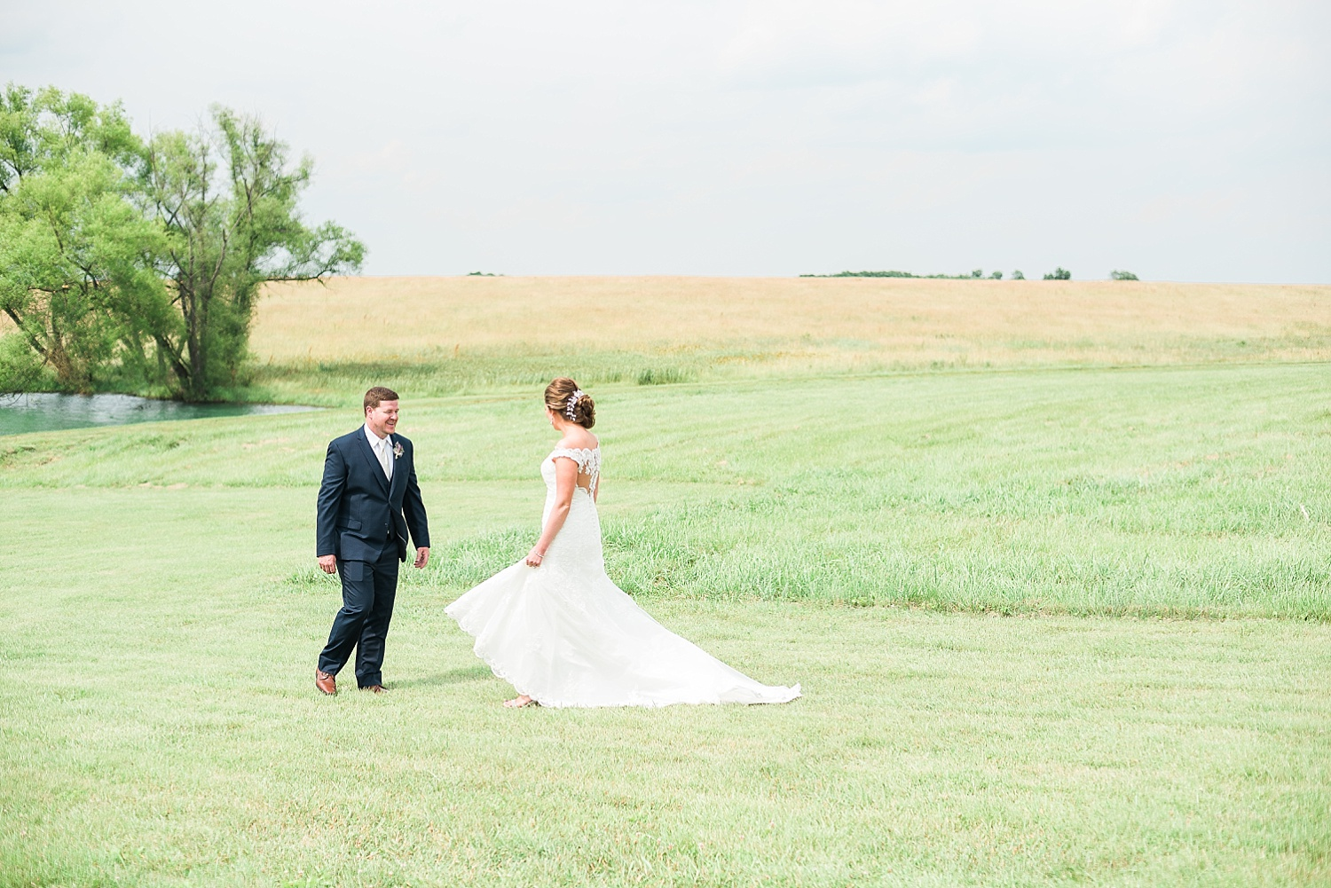 Their first look took place down near the pond