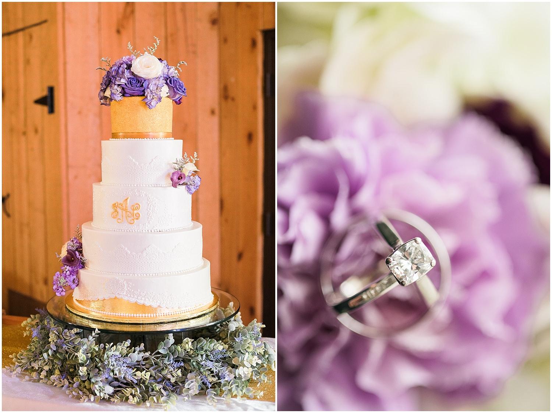 purple-white-gold-wedding-cake