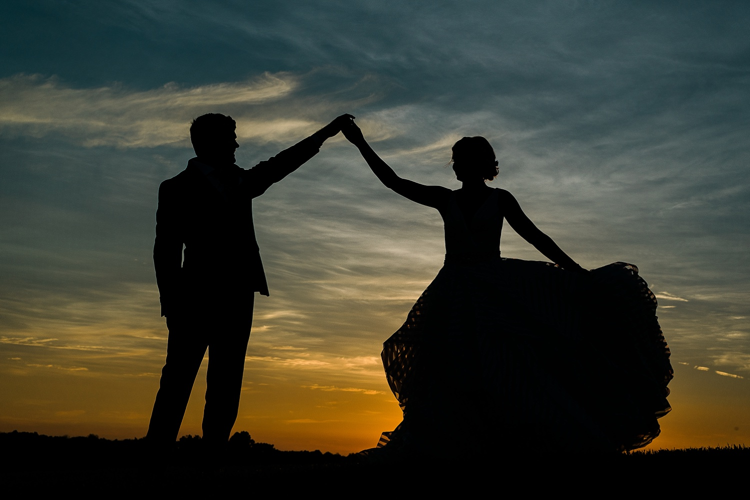 Love this silhouette!  They look like a Disney prince and princess!  <3