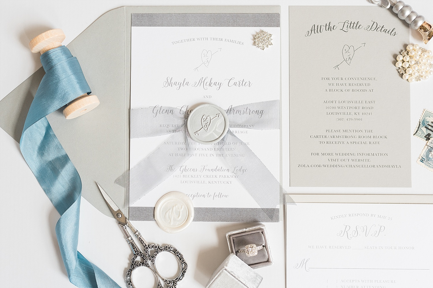 Invitation suite by Simply Done Invites